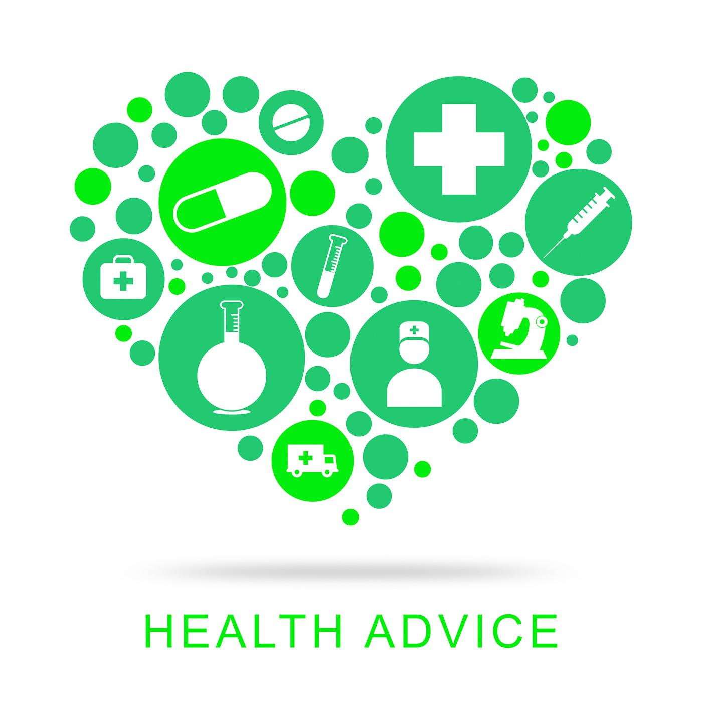 Health advice represents preventive medicine and advisor photo