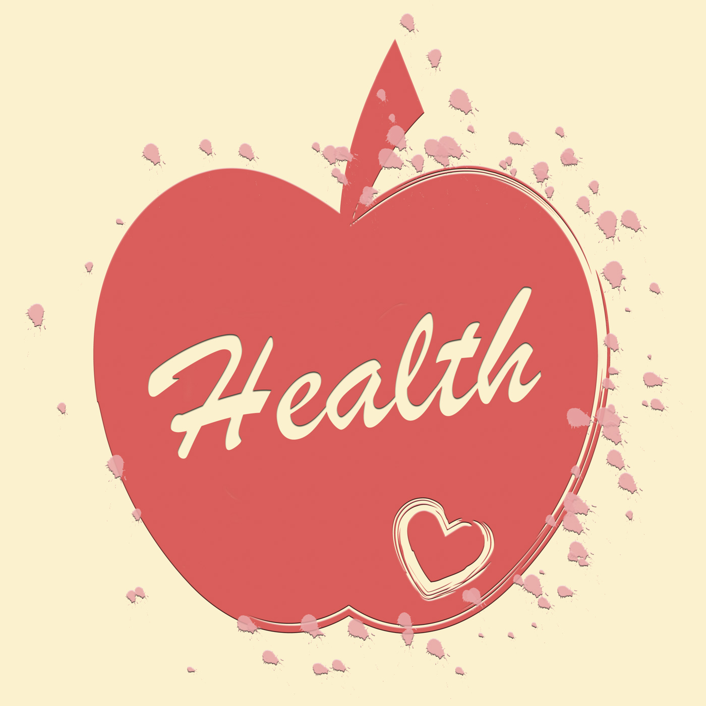 Health apple means healthy wellness and care photo