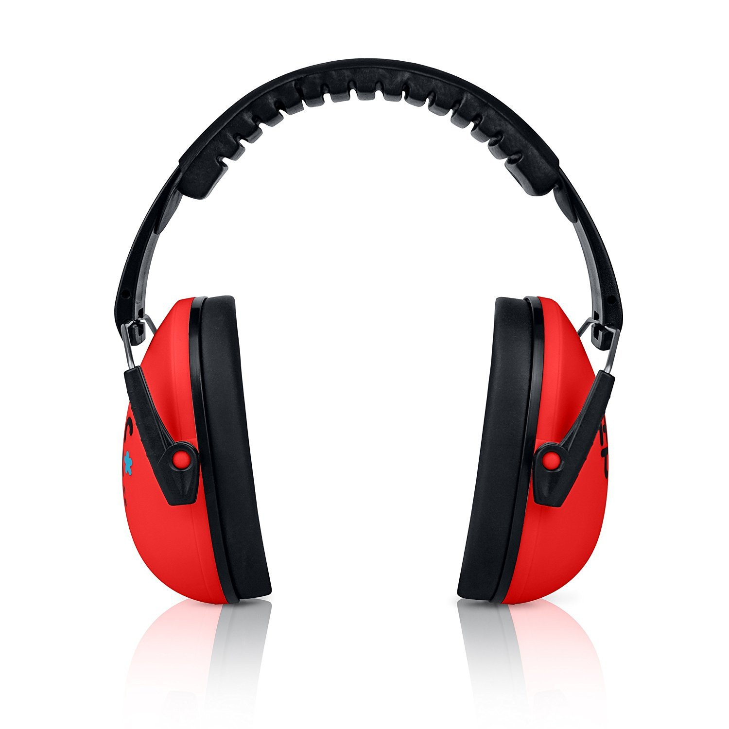 Glowing Red Senna Earmuffs Hearing Protection with Travel Bag ...