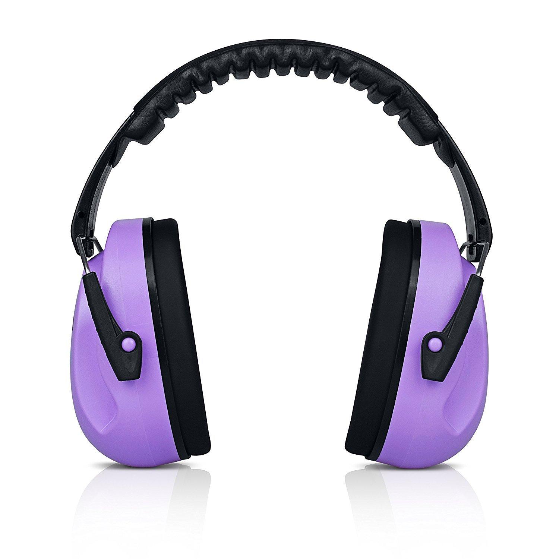 Purple Sammy Earmuffs Hearing Protection with Travel Bag – HearTekUSA