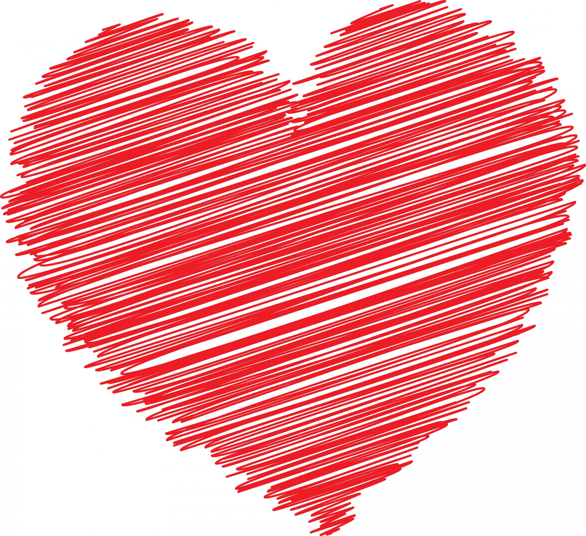 Red Scribble Heart Free Stock Photo - Public Domain Pictures