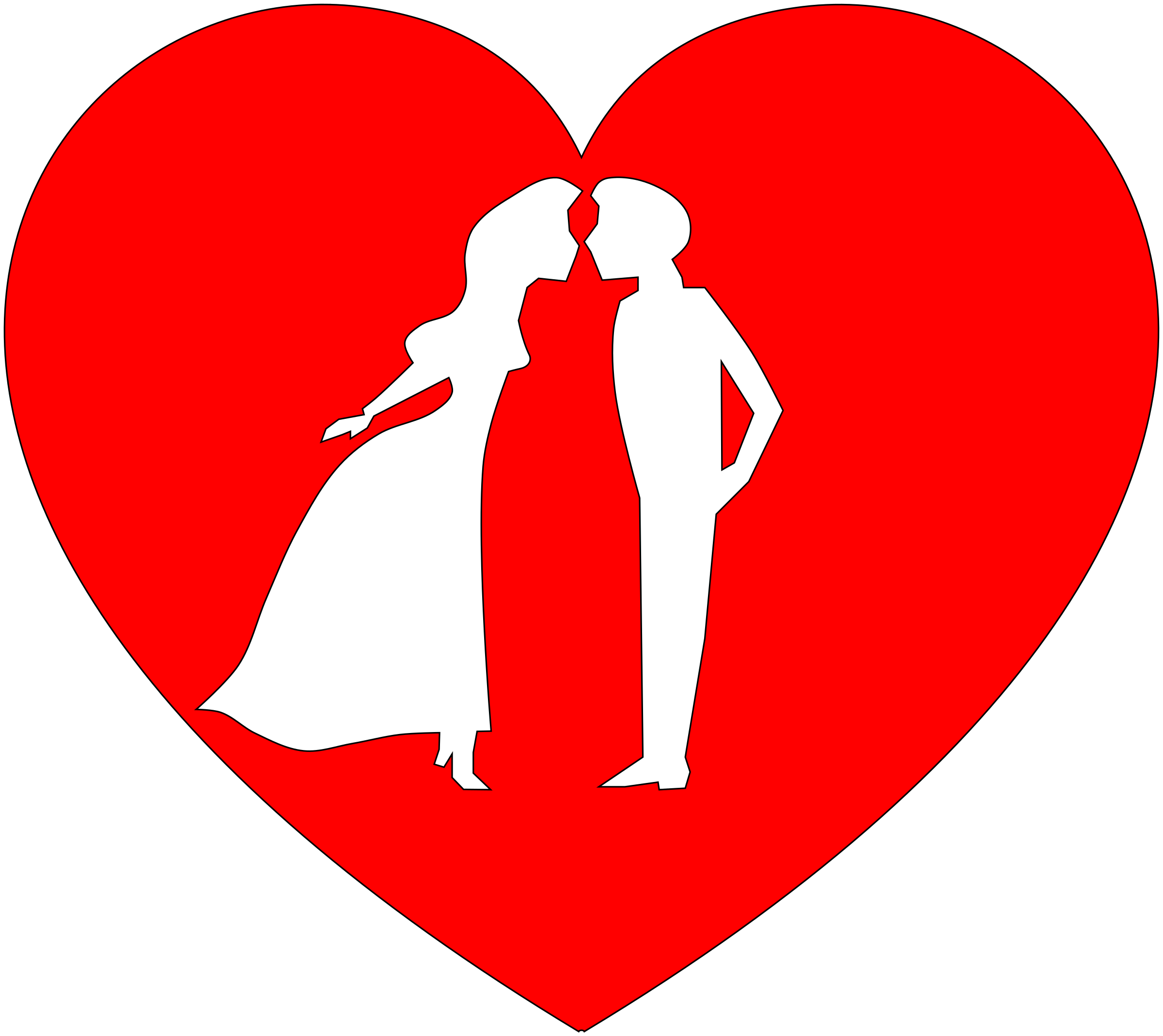 Couple in Heart Icons PNG - Free PNG and Icons Downloads