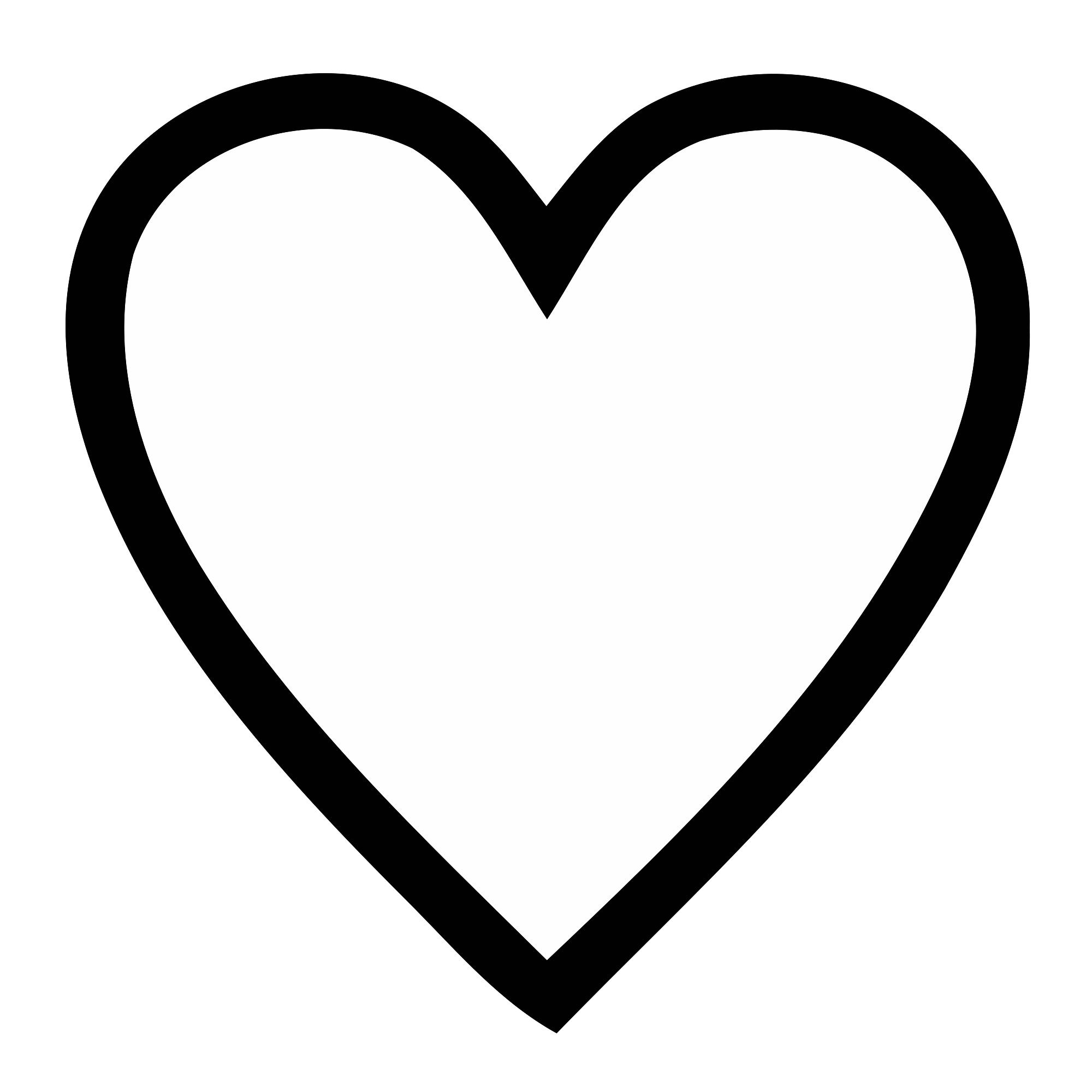 Heart Png Black Transparent