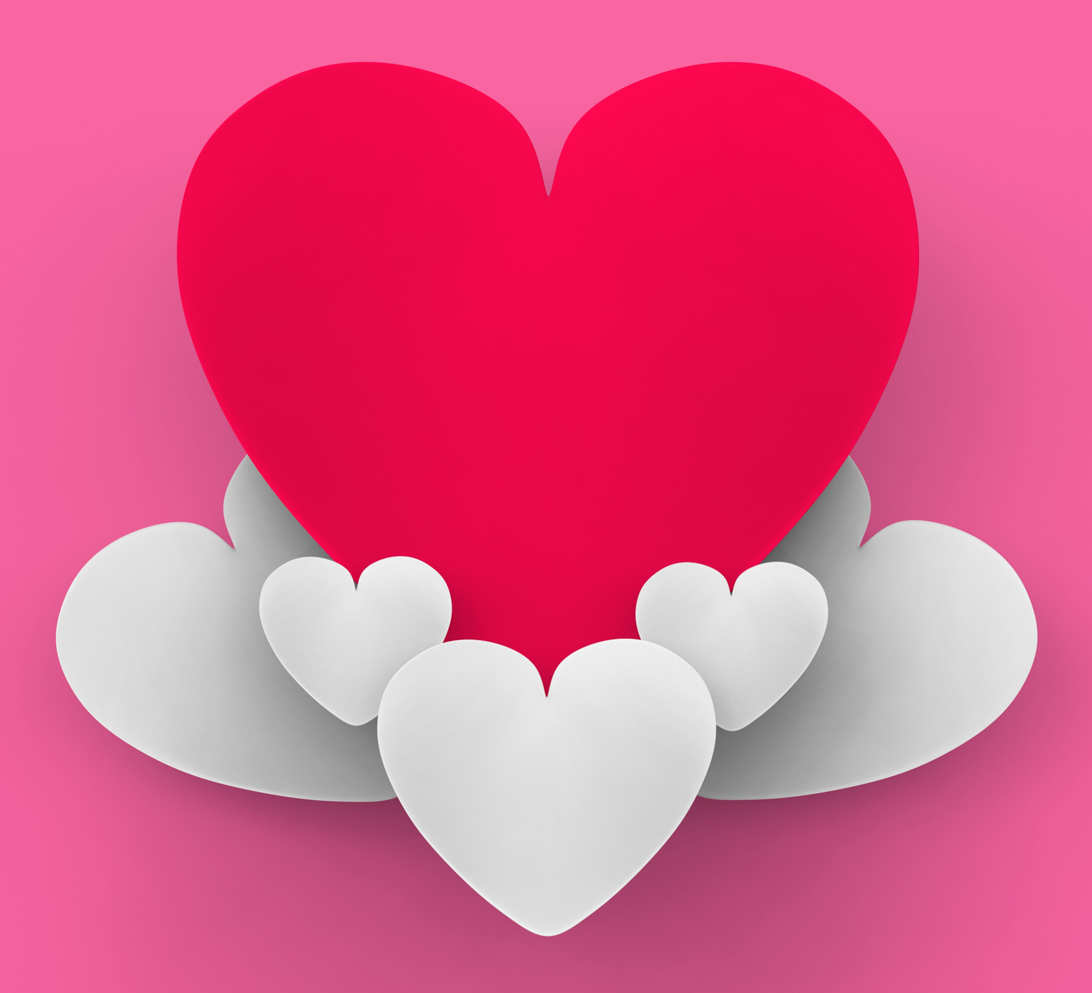 Heart On Heart Clouds Shows Romantic Heaven Or In Love Sensation, Air, High, Sensation, Romantic, HQ Photo