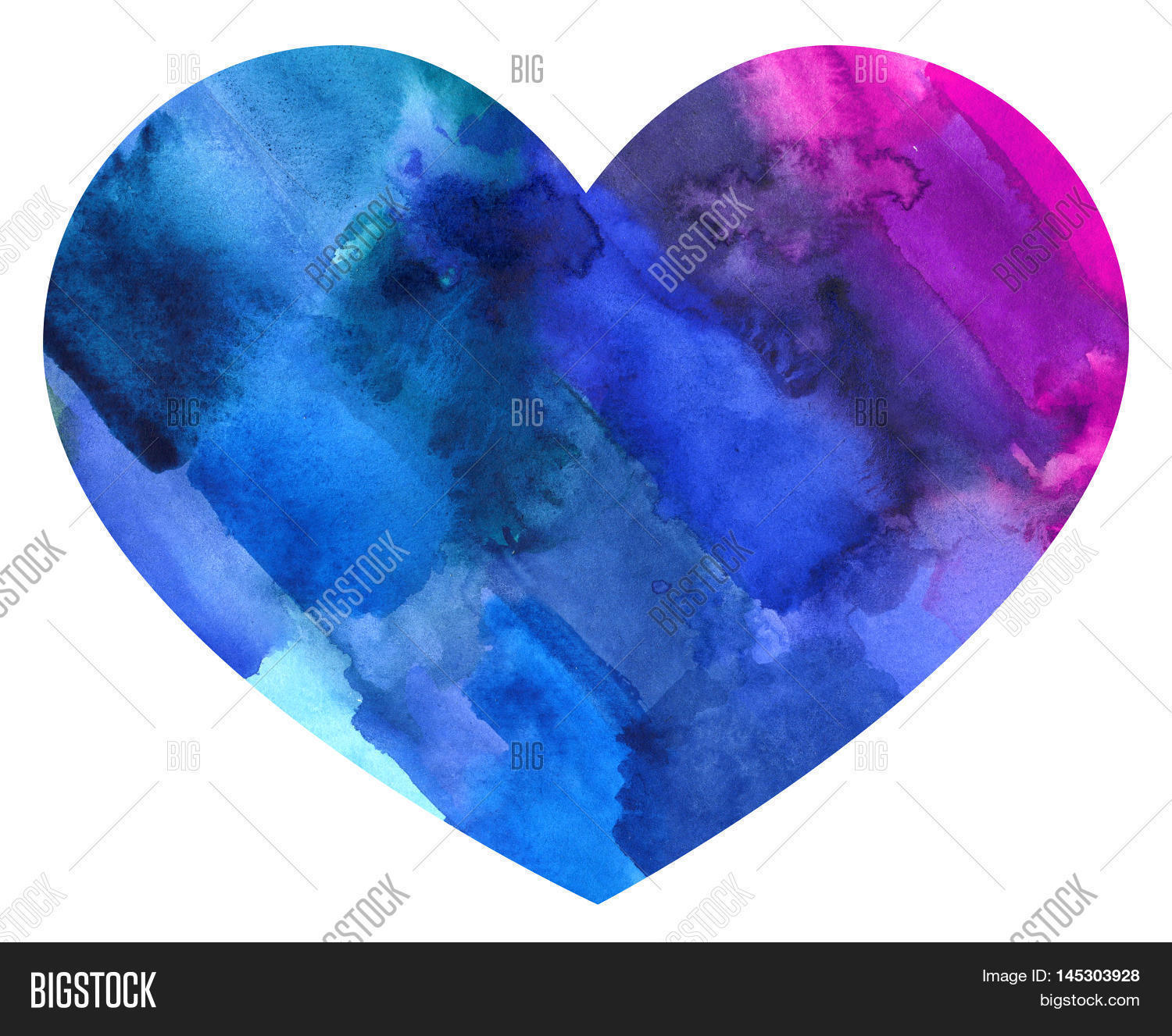 Abstract Watercolor Colorful Heart Image & Photo | Bigstock