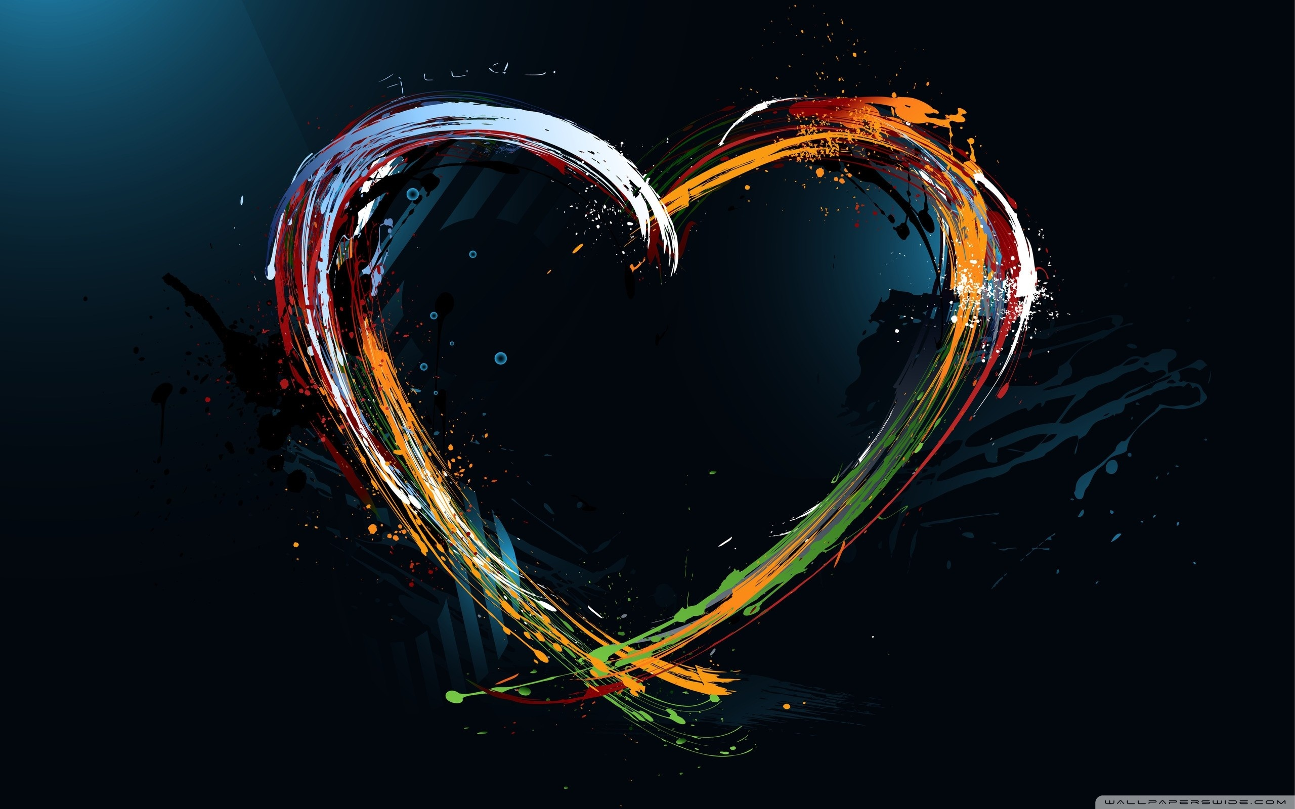 Paint Splash Heart ❤ 4K HD Desktop Wallpaper for 4K Ultra HD TV ...