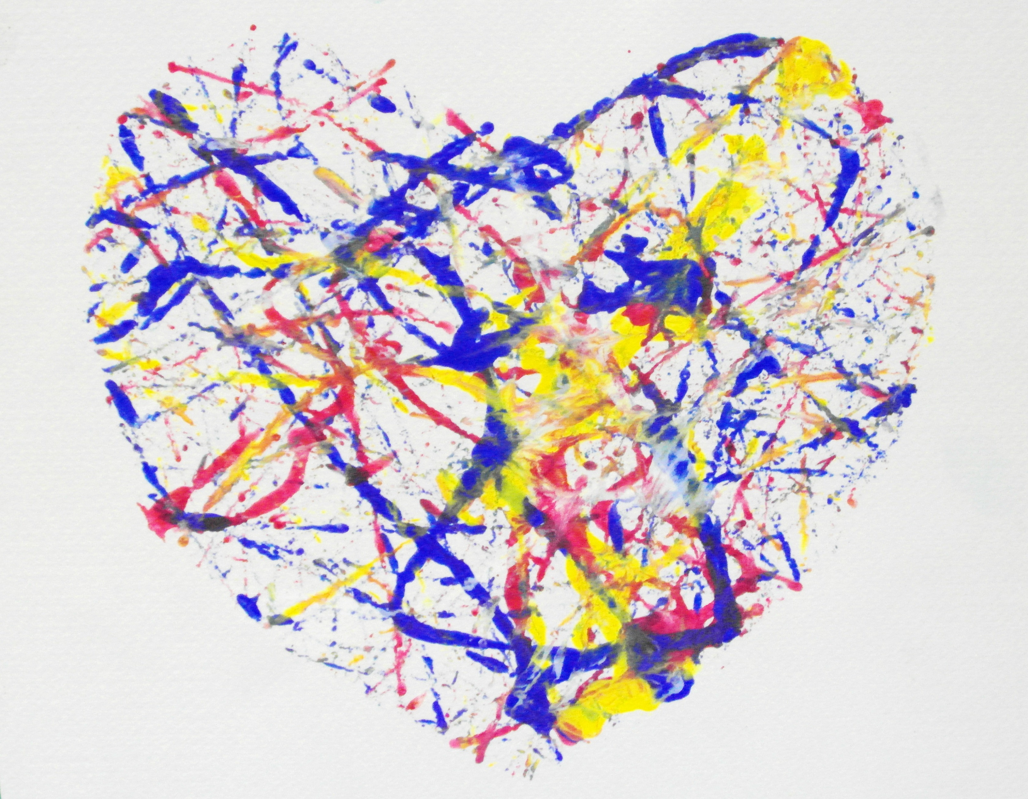 Heart Paint Splatter, Painting, Valentine, Splatter, Splats, HQ Photo