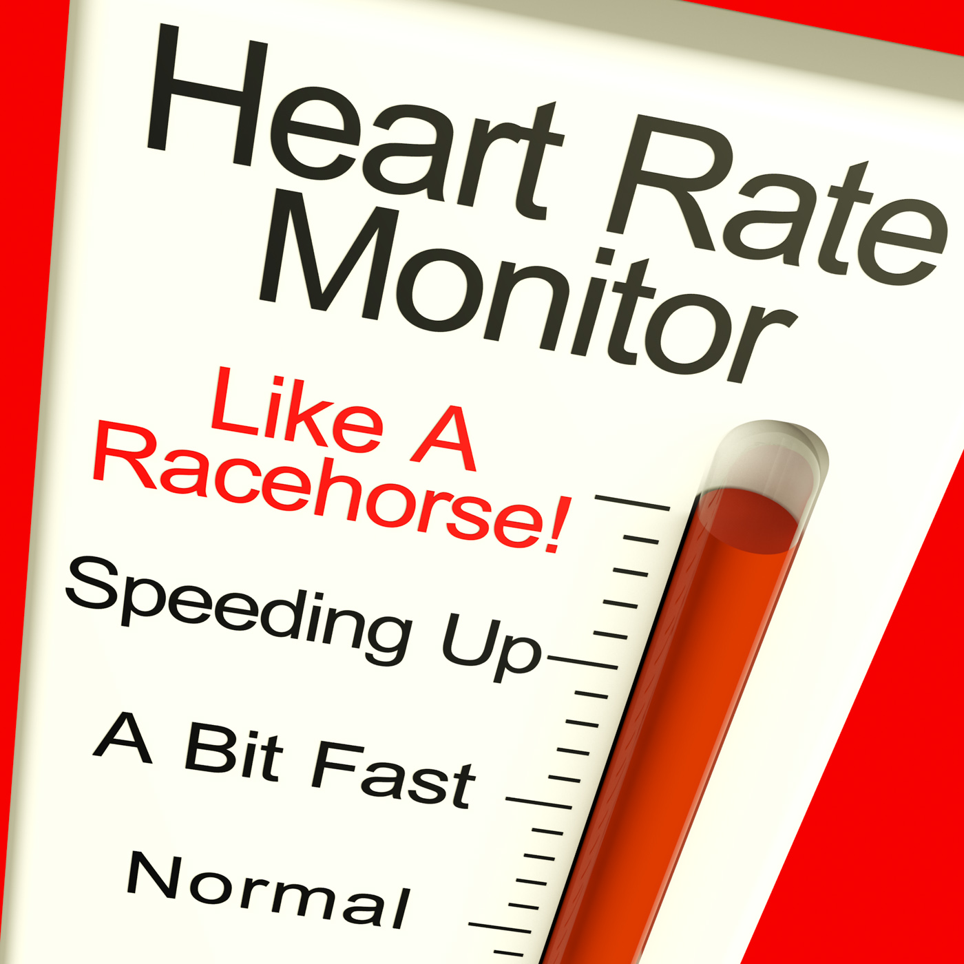 Heart rate monitor very fast showing quick beats photo