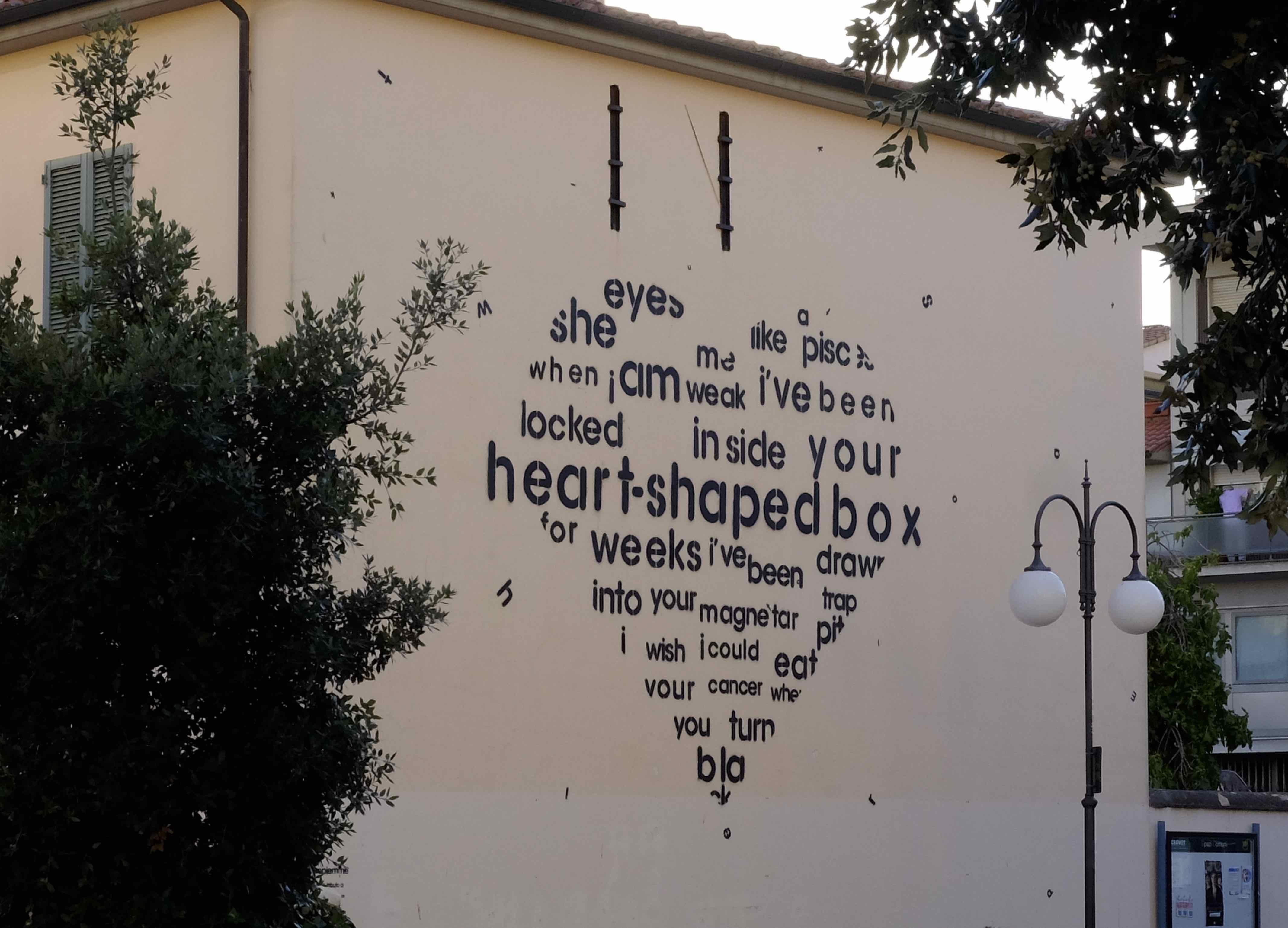 Heart Shaped box - Murales Follonica - Opiemme