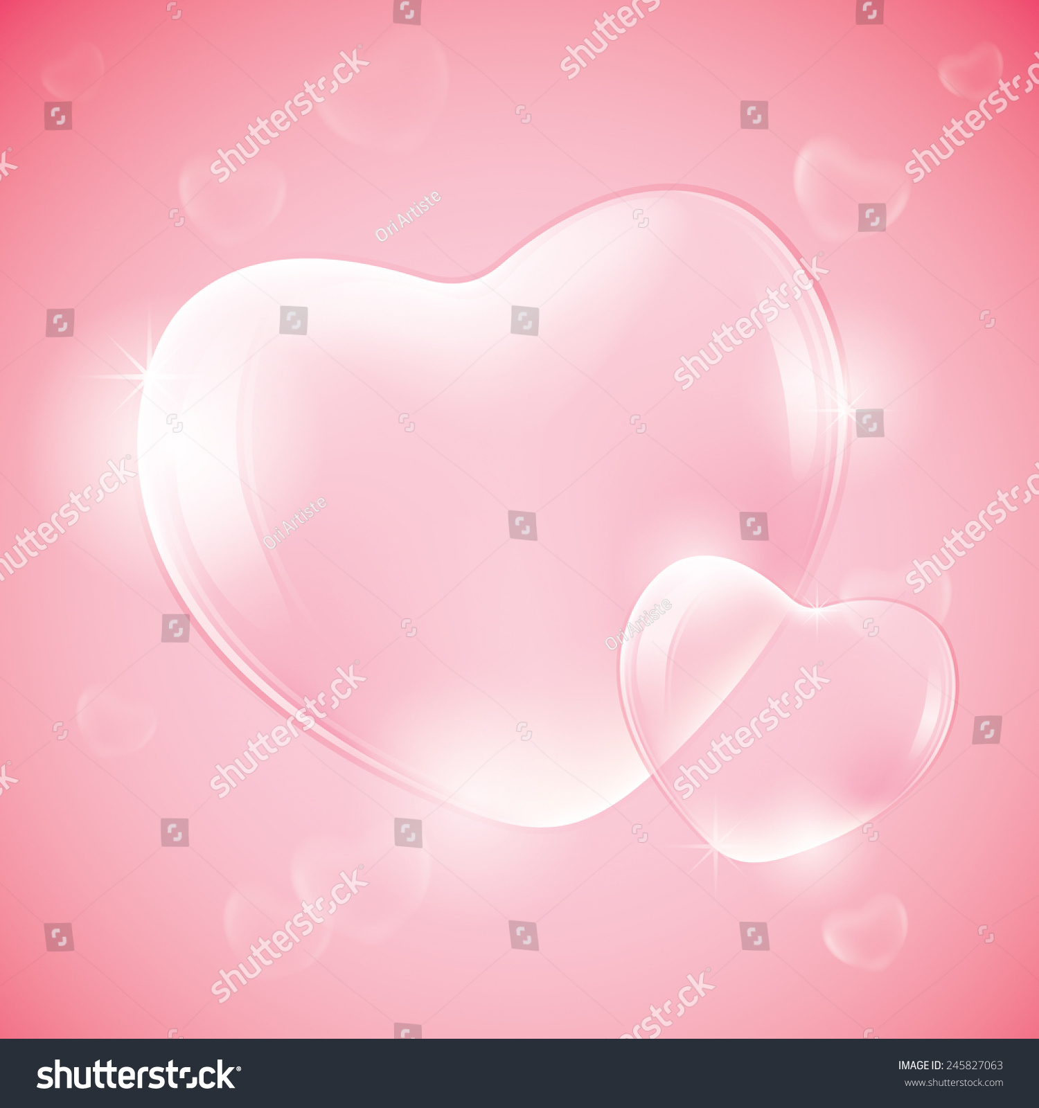 Heart Shaped Bubbles Stock Vector 245827063 - Shutterstock