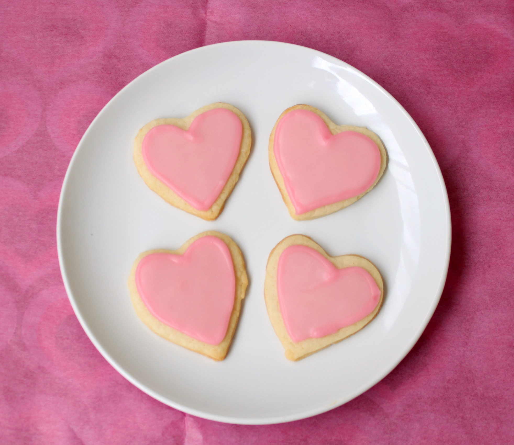 Heart-shaped Pink cookies – Recipe Yard