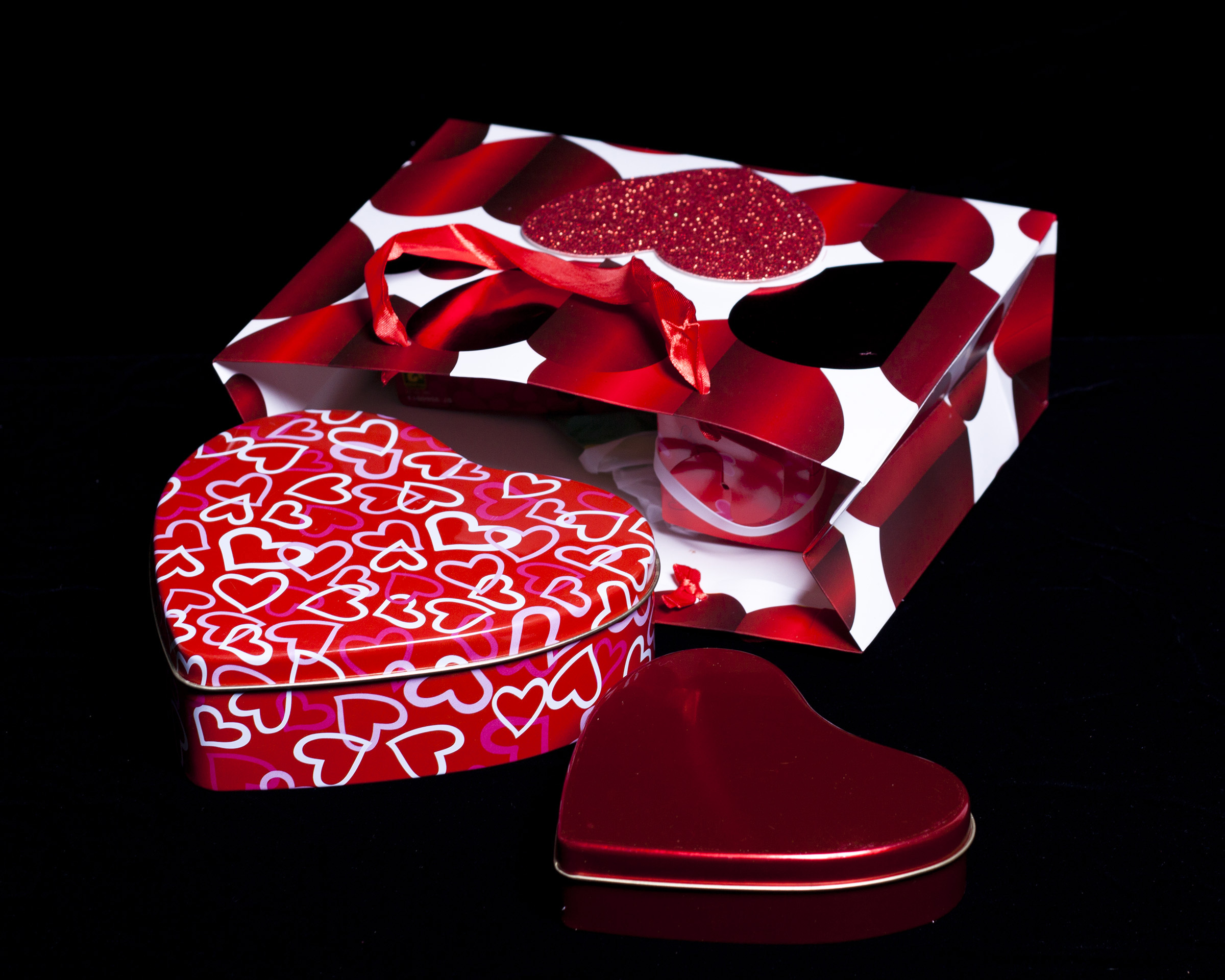 Heart Shaped Gift Boxes, Affection, Ribbon, Objects, Package, HQ Photo