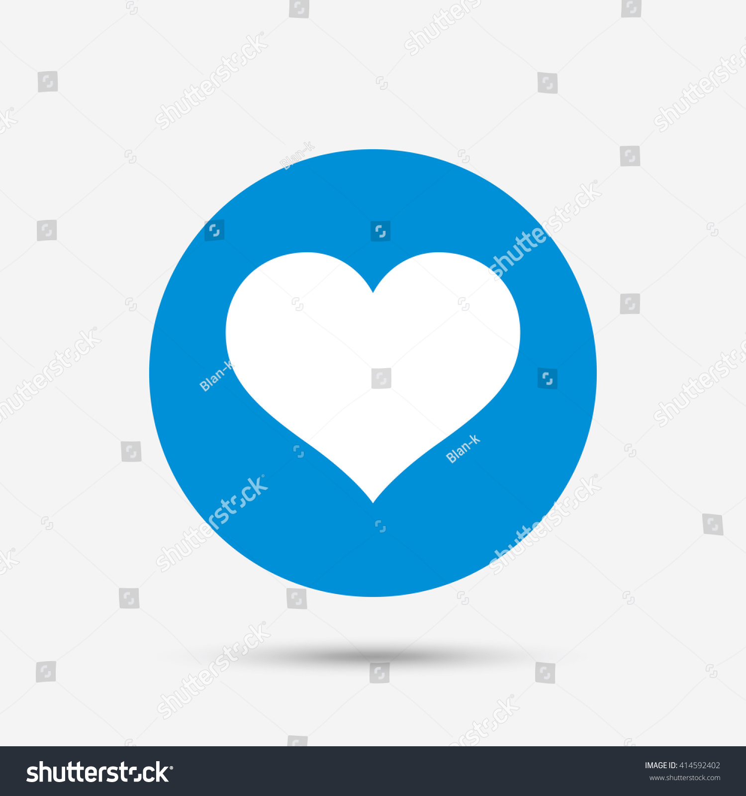 Love Icon Heart Sign Symbol Blue Stock Vector 414592402 - Shutterstock