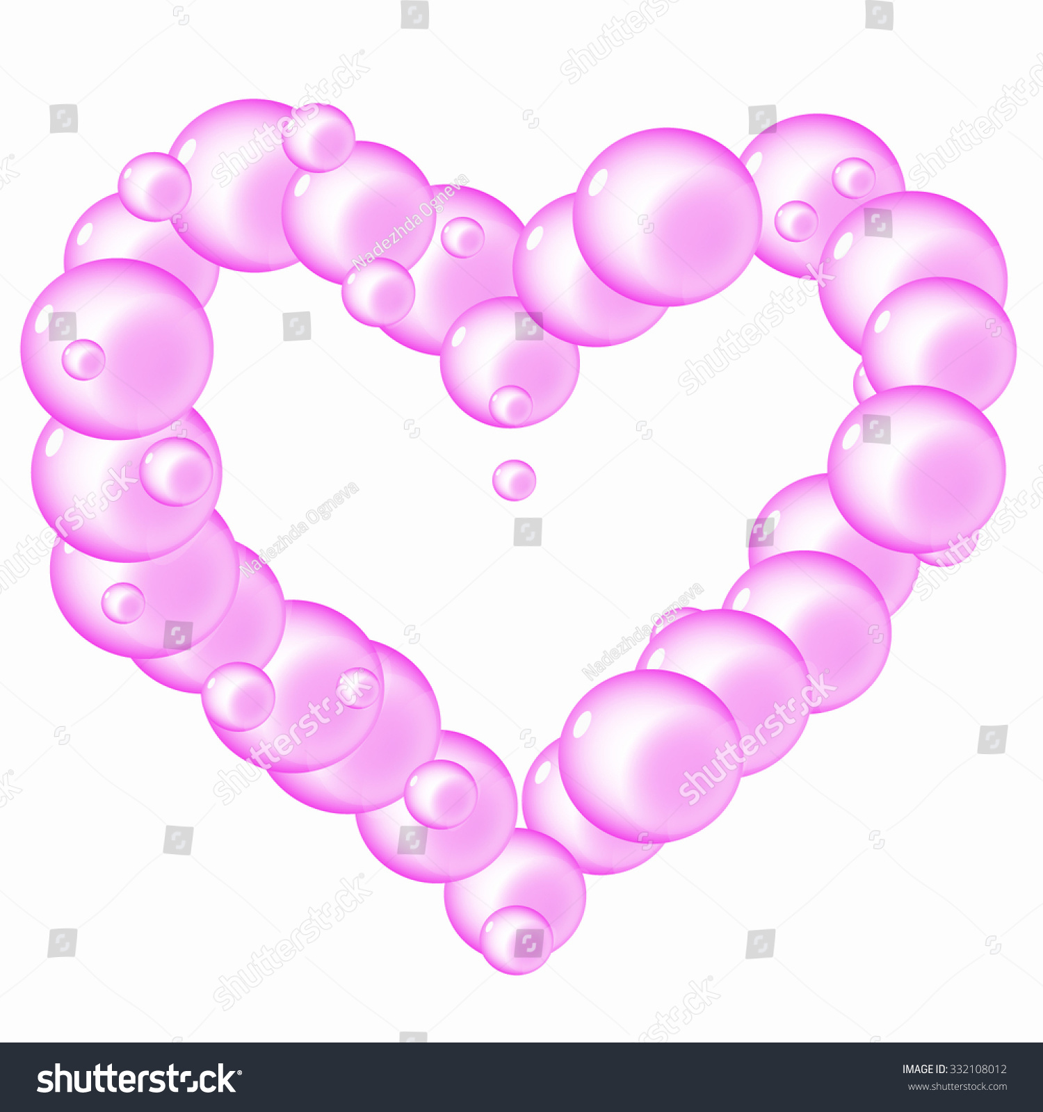 Translucent Soap Bubbles Flying Pink Heart Stock Photo (Photo ...