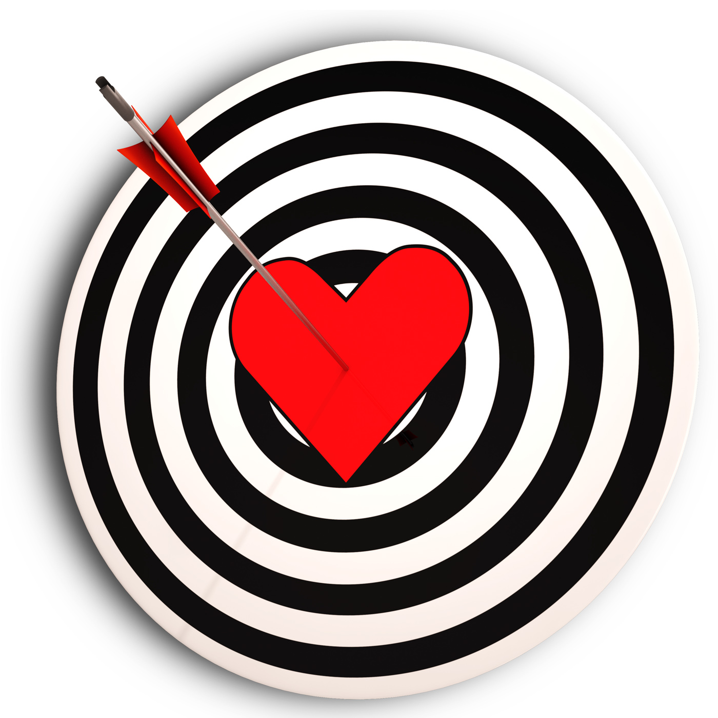 Heart Target Means I Love You Achieved, Achieved, Inlove, Wedding, Valentinesday, HQ Photo
