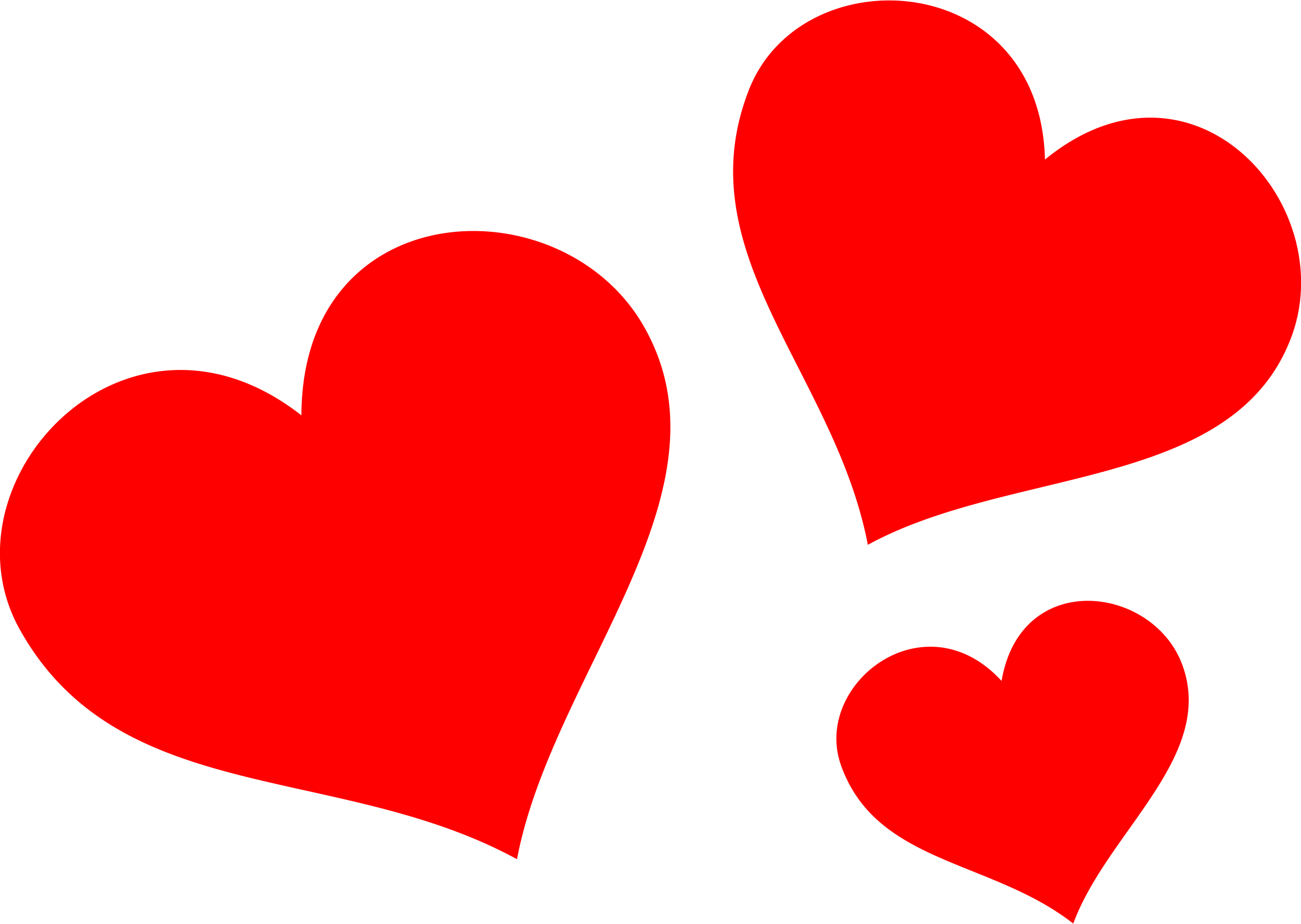 Clipart - Red Hearts