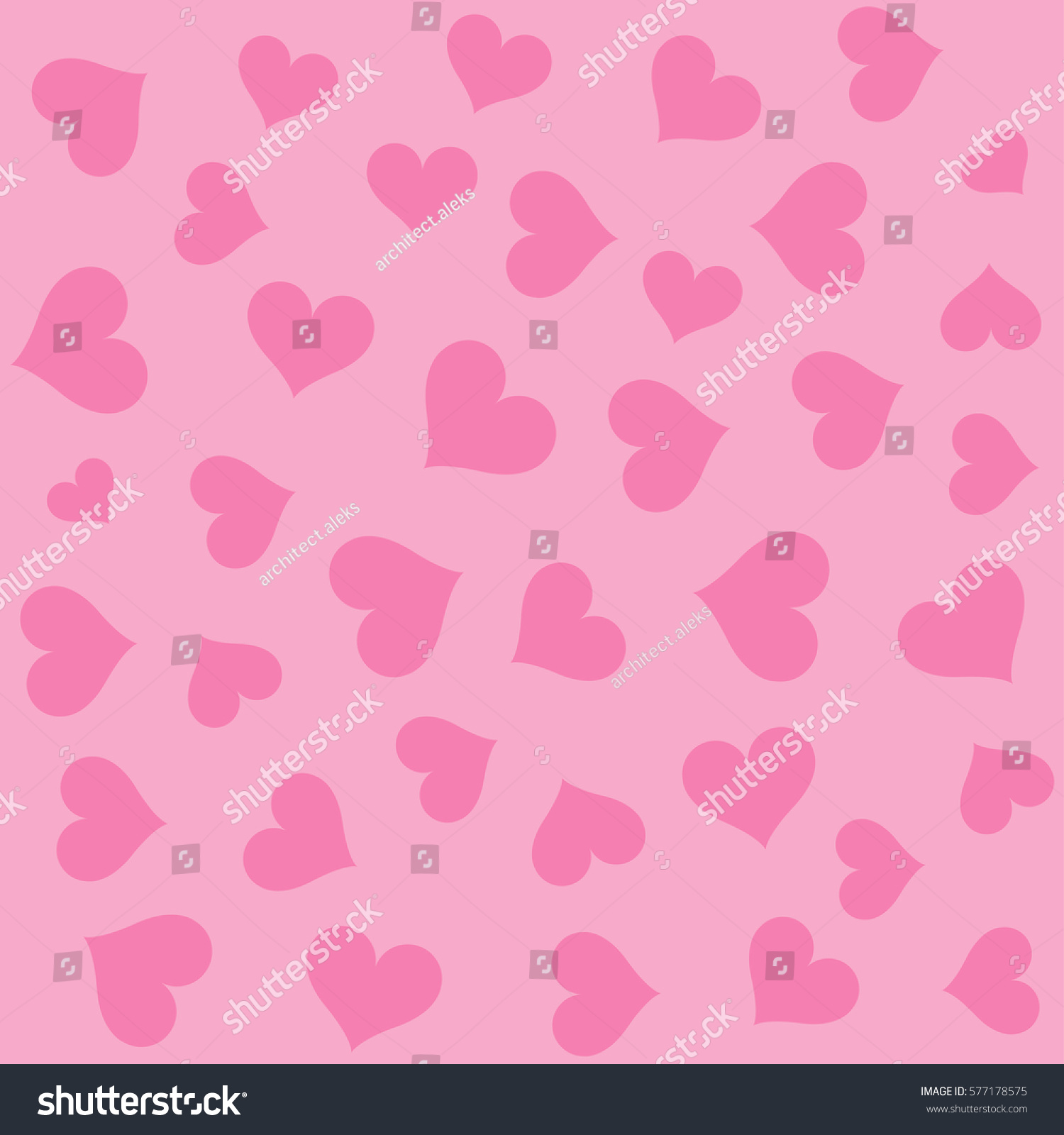Pink Hearts Background Pattern Stock Vector 577178575 - Shutterstock