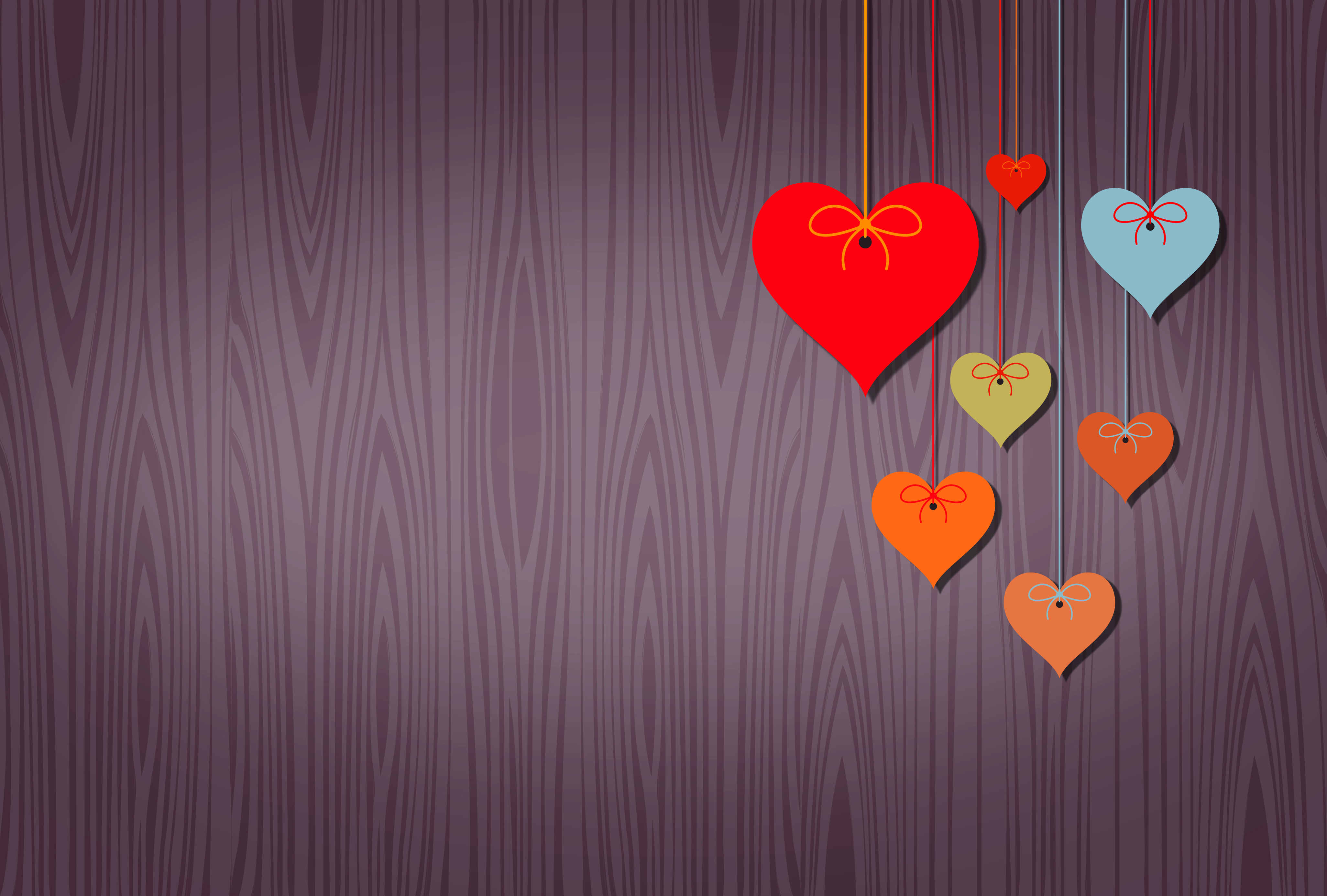 Hearts Background with Copyspace, Red, Purple, Present, Romance, HQ Photo
