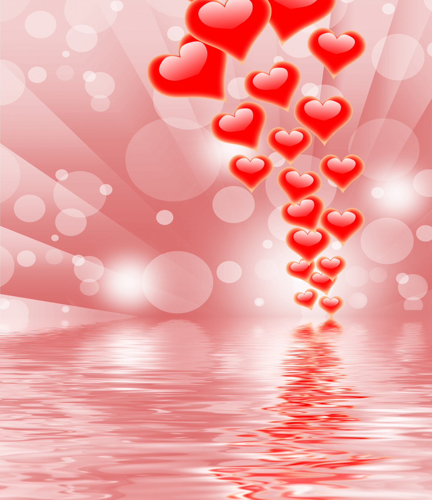 Hearts On Background Displays Valentines Day Or Romanticism, Cheerful, Valentine, Romanticism, Romantic, HQ Photo