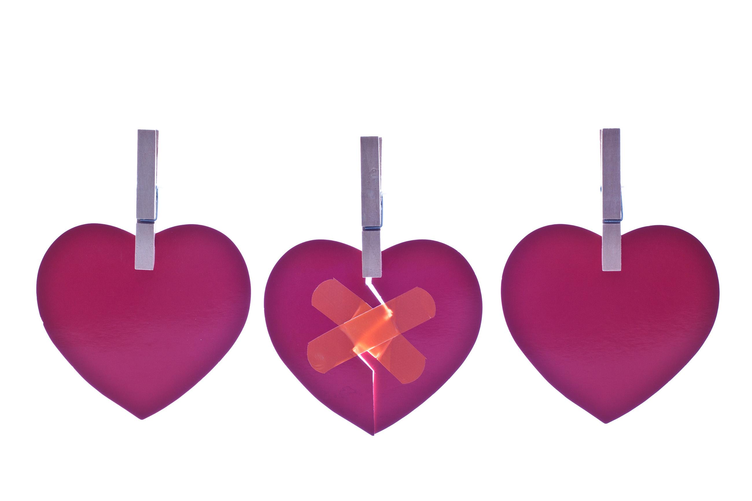Hearts, Aid, Red, Lovers, Macro, HQ Photo