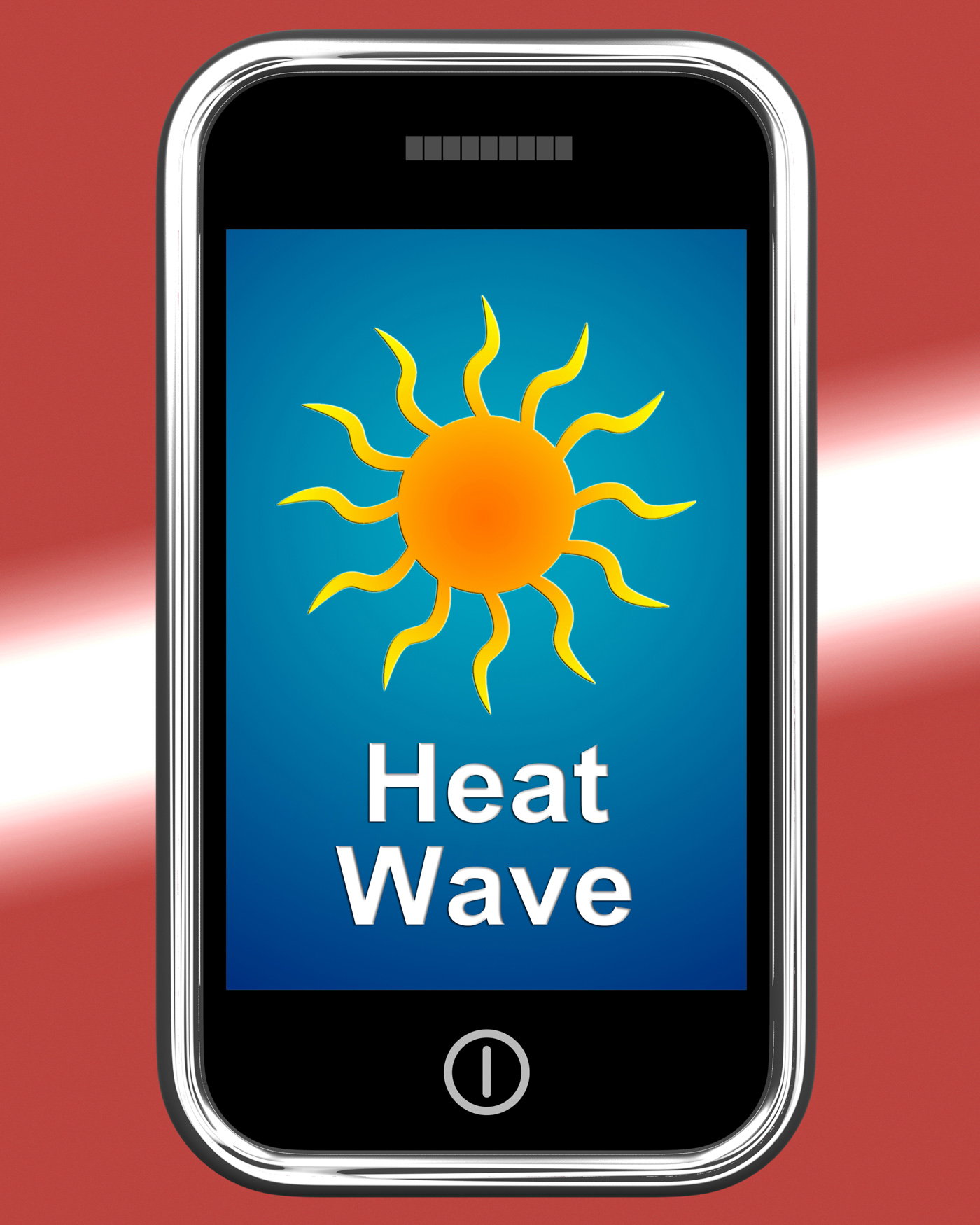 Heat Wave On Phone Means Hot Weather, Cellphone, Scorcher, Weather, Sunshine, HQ Photo