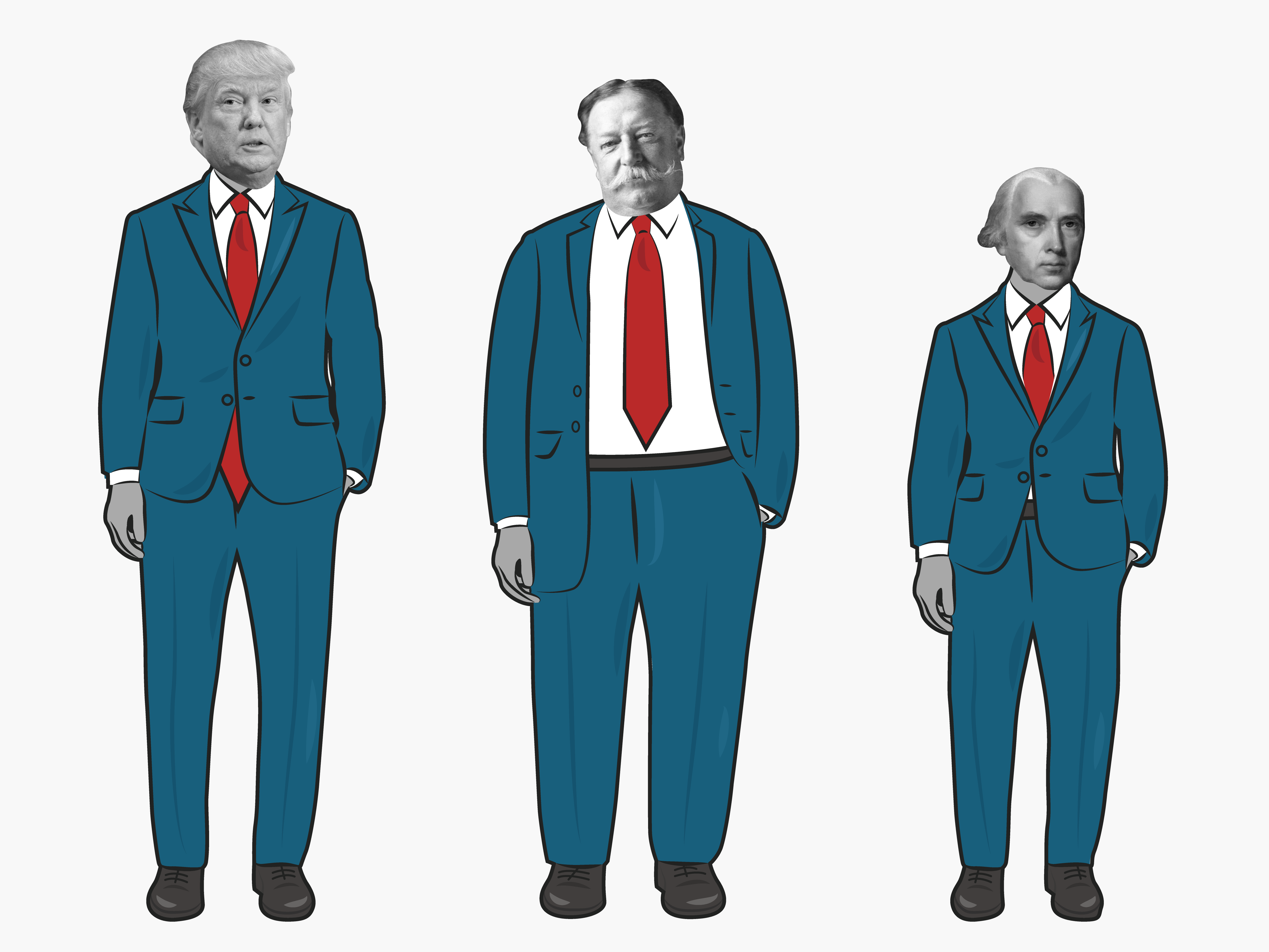 This video shows all of the US presidents in order of height ...