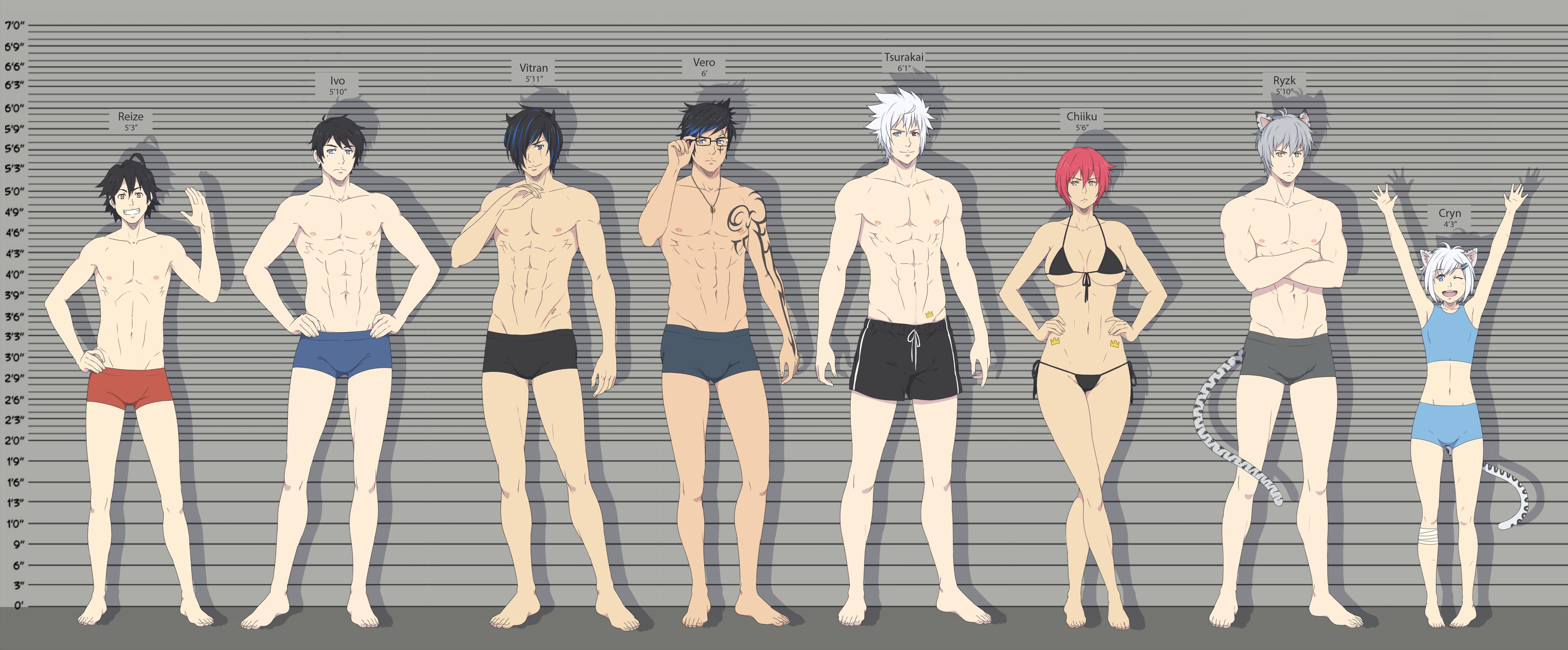 What's your height batch 1 by ichan-desu on DeviantArt