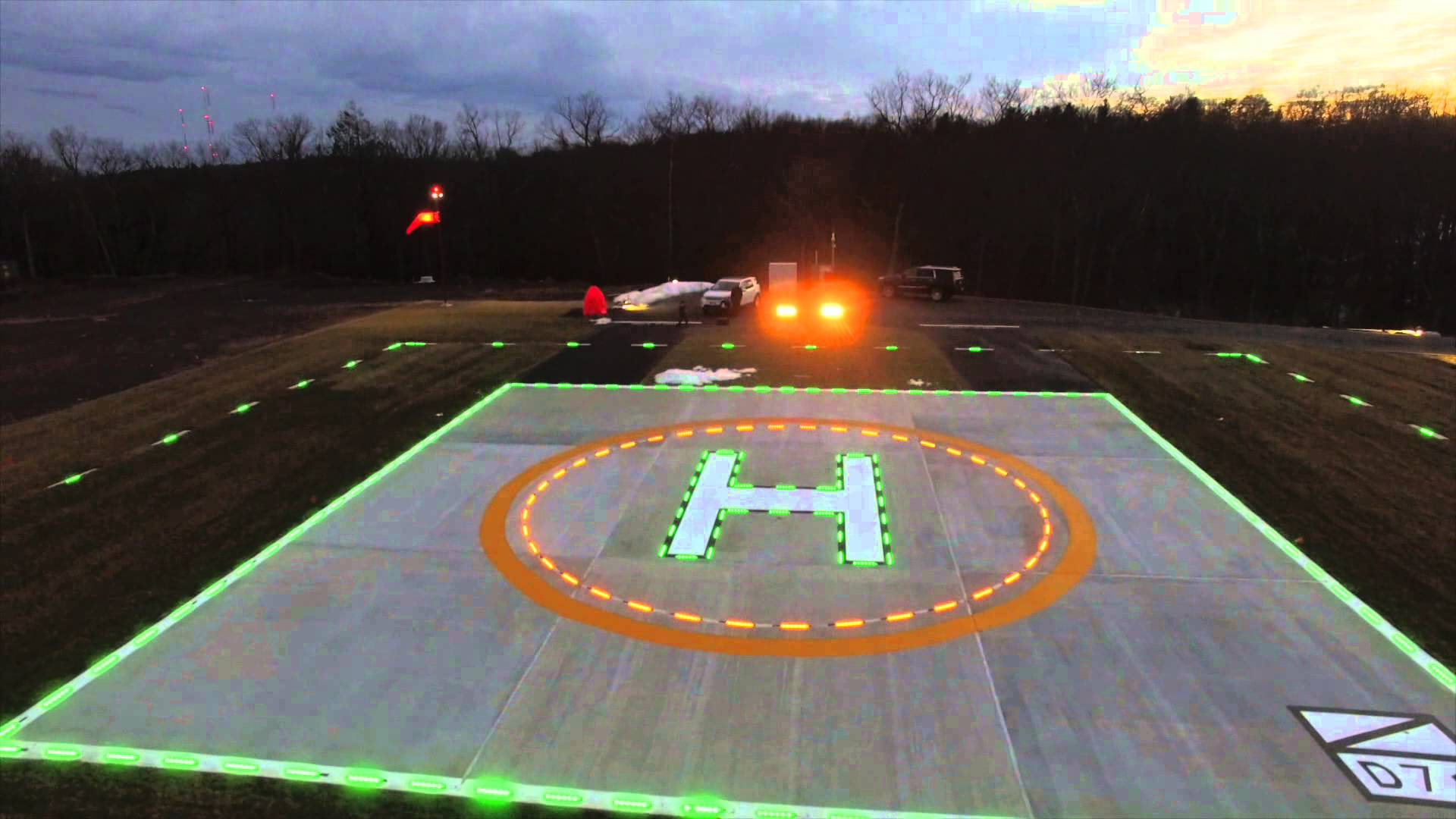 Helipad with Lights - YouTube
