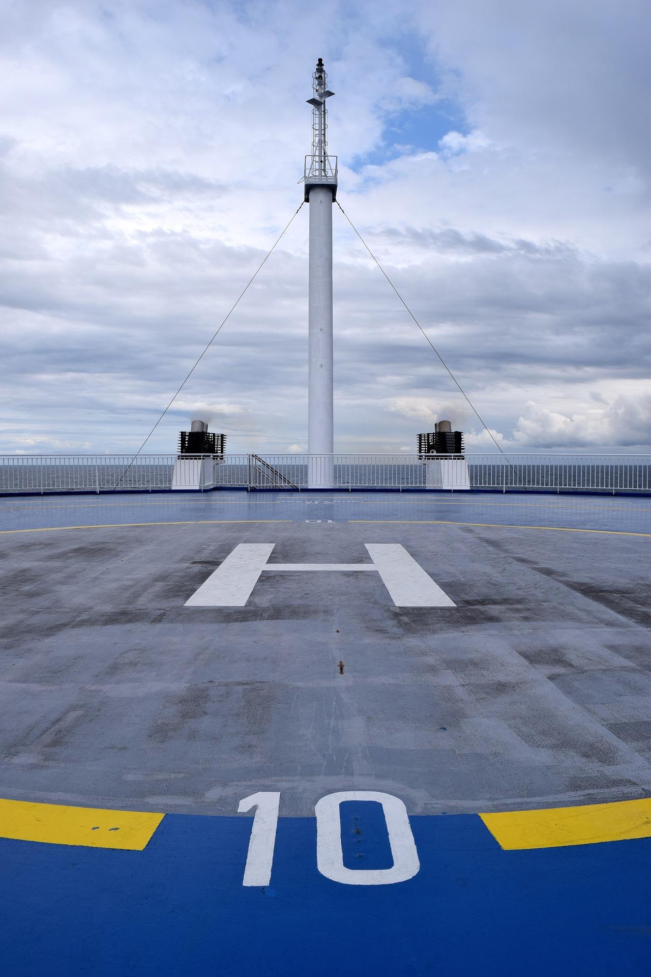 Helipad on the Ship, Boat, Construction, Heli, Helipad, HQ Photo