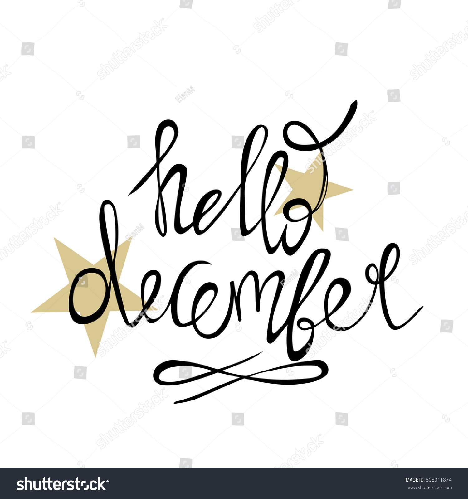 Hello december calligraphy photo