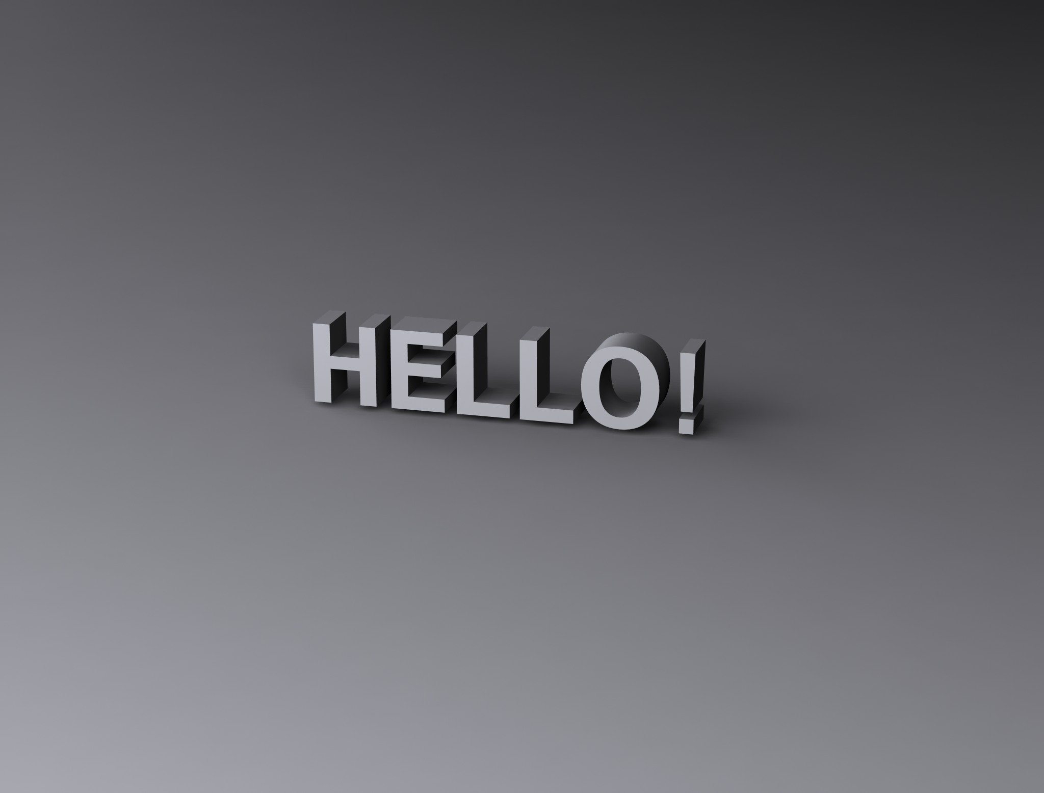 Hello!, 3d, Hello, Render, Text, HQ Photo