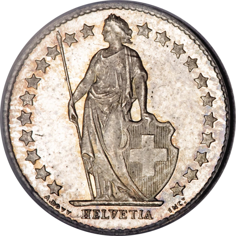 ½ Franc - Switzerland – Numista