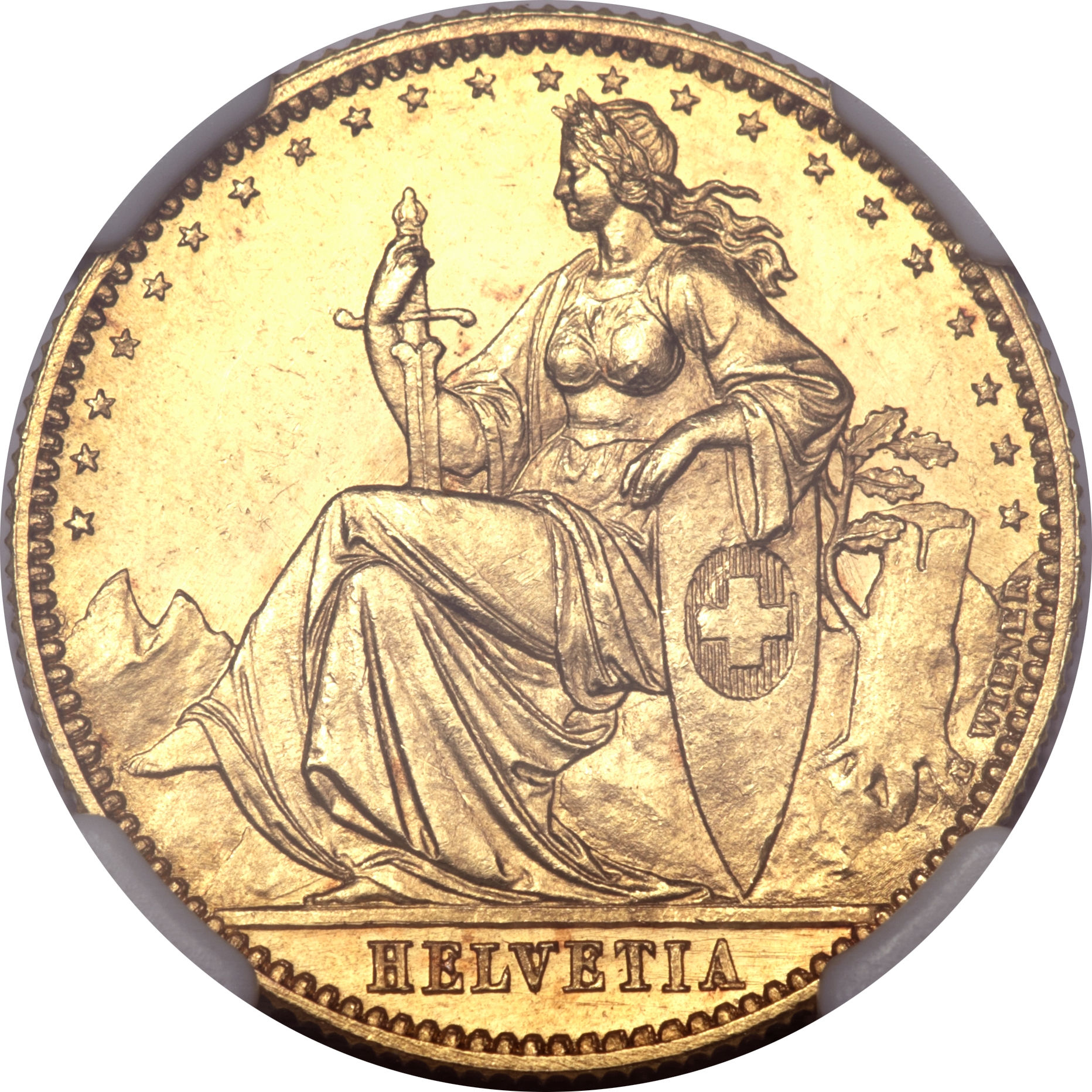 20 Francs (1873) Switzerland KM# Pn26 - CoinsBook