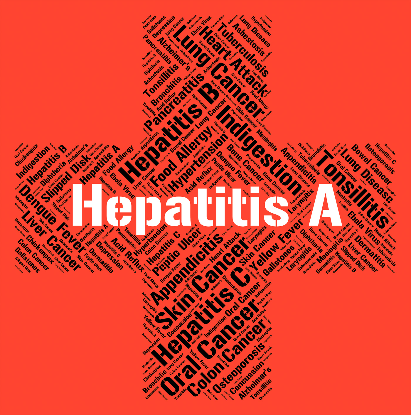 Hepatitis A Indicates Ill Health And Affliction, A, Inflammation, Indisposition, Infection, HQ Photo