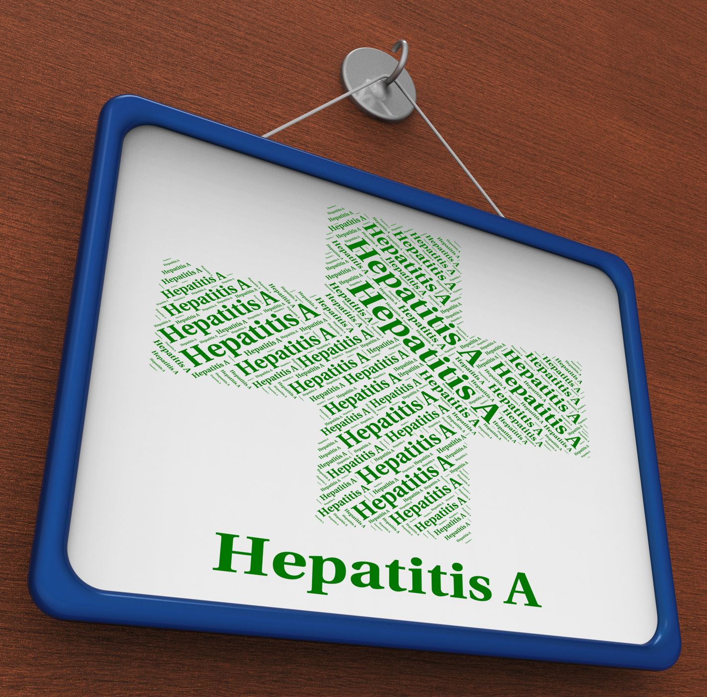 Hepatitis a shows ill health and affliction photo