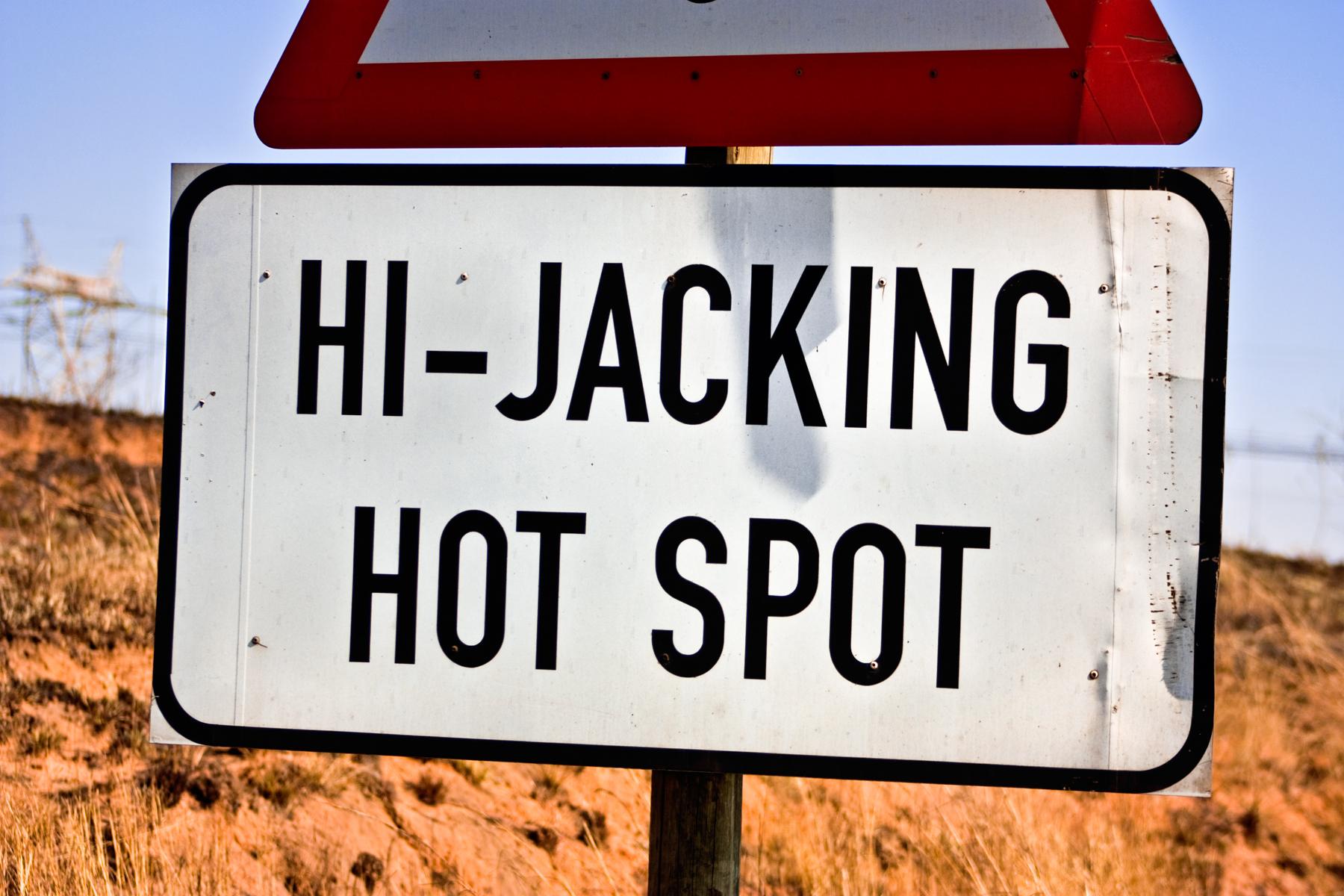 Hi-jacking hotspot sign photo
