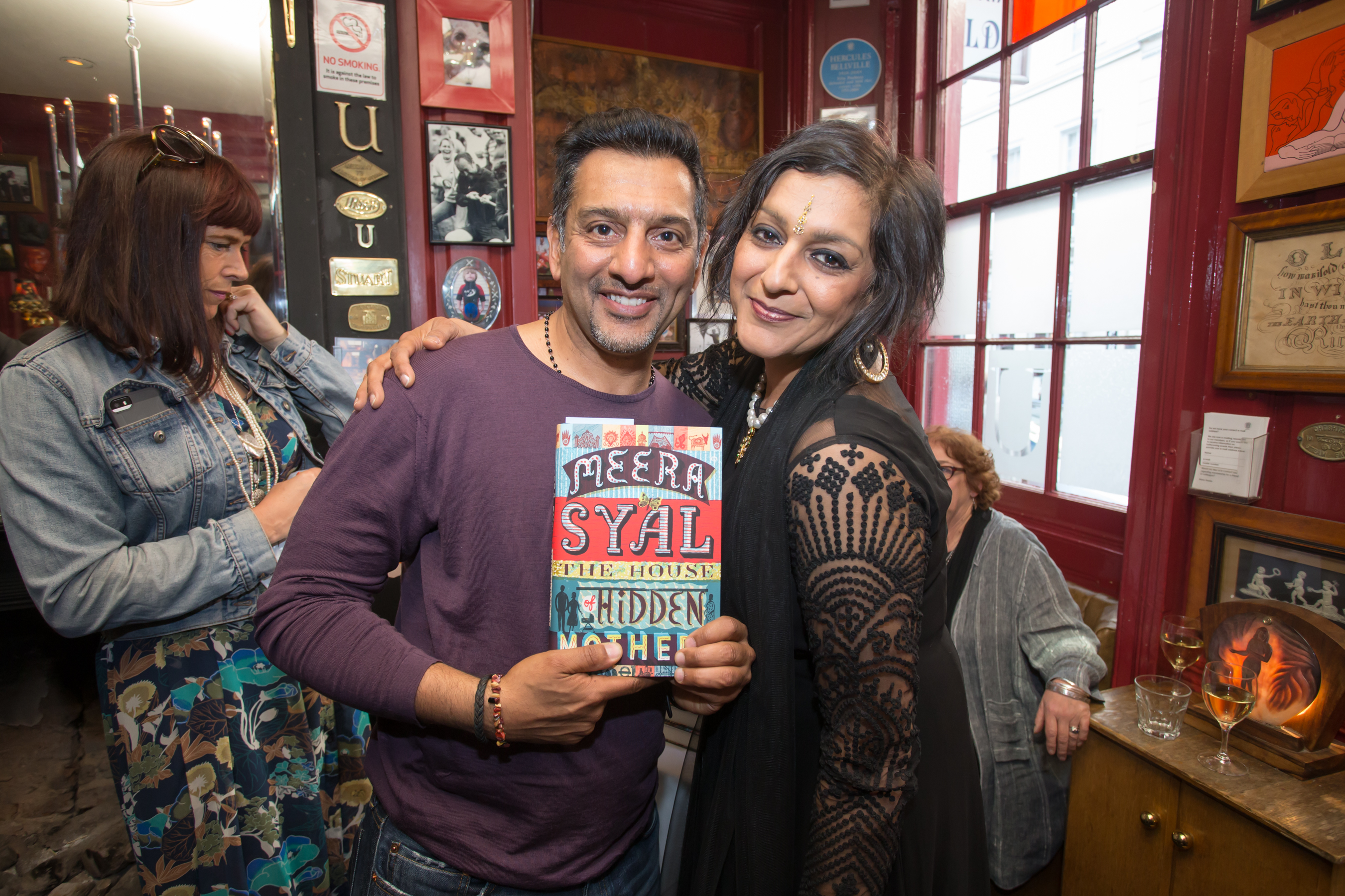 Nitin Ganatra and Meera Syal at the launch of The House of Hidden ...
