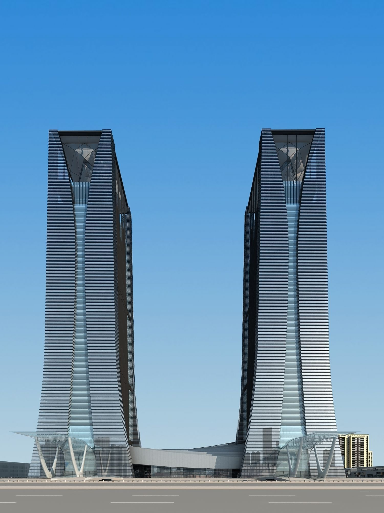 High-Rise Ritzy Commercial Building 3D | CGTrader