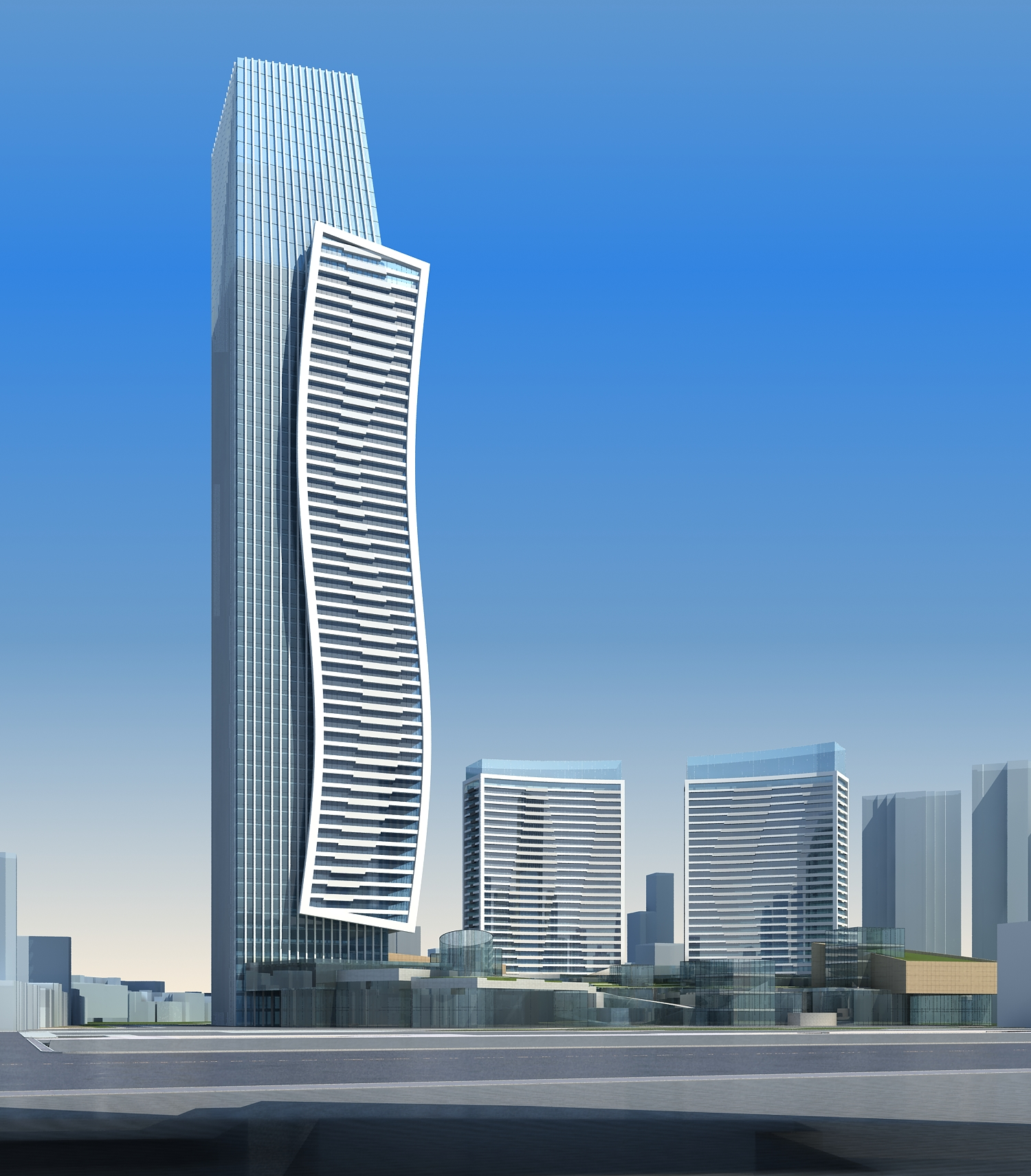 High-Rise Office Building 067 3D Model