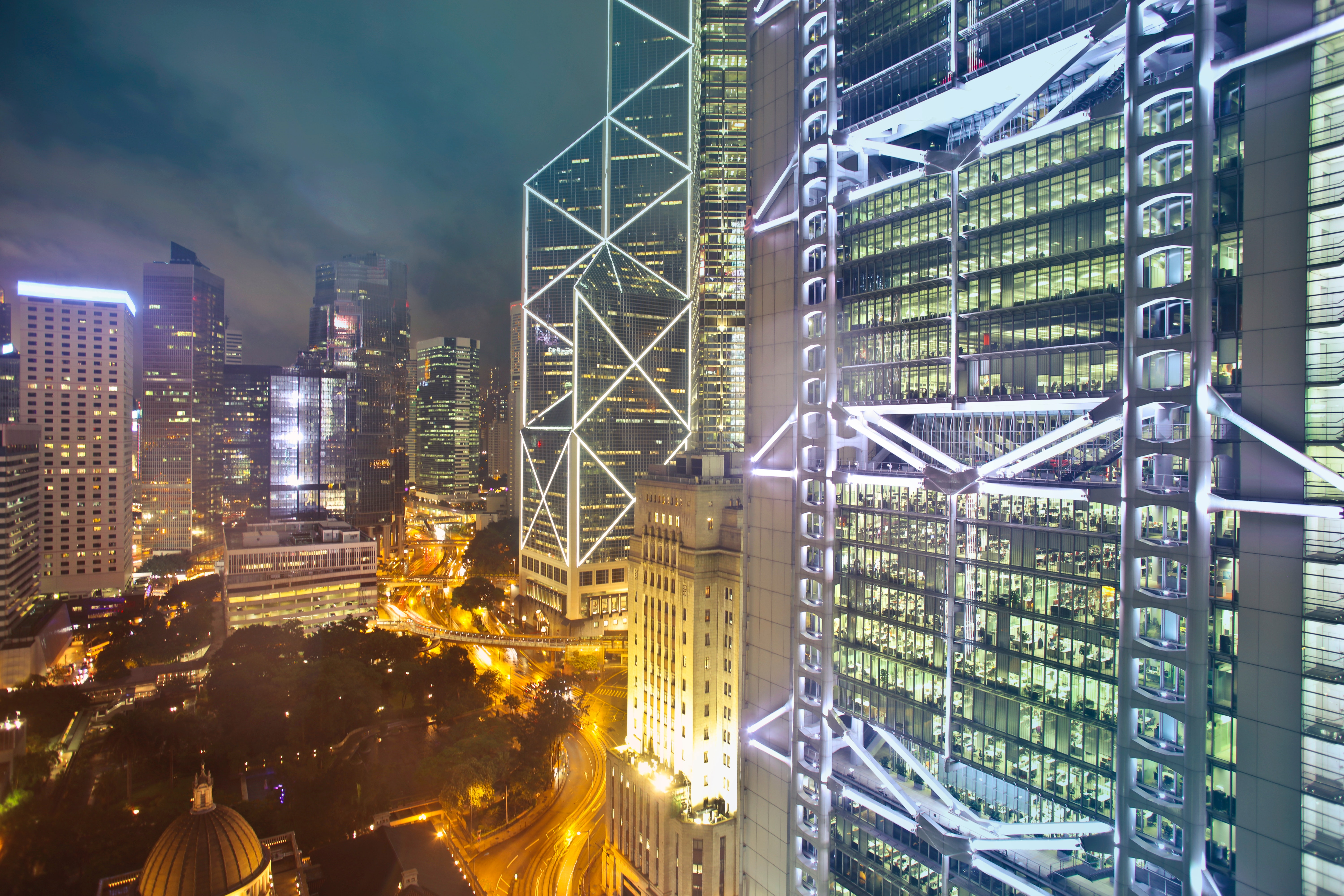 High Rise Buildings during Night Time, Architecture, Night, Urban, Time-lapse, HQ Photo