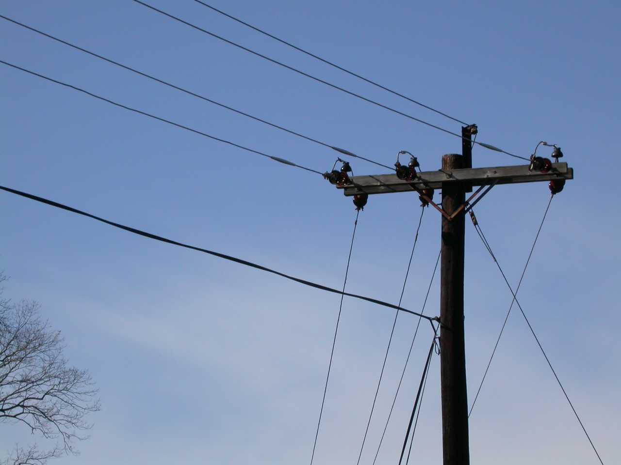 Free photo: High voltage power lines - voltage, wires, powerlines ...