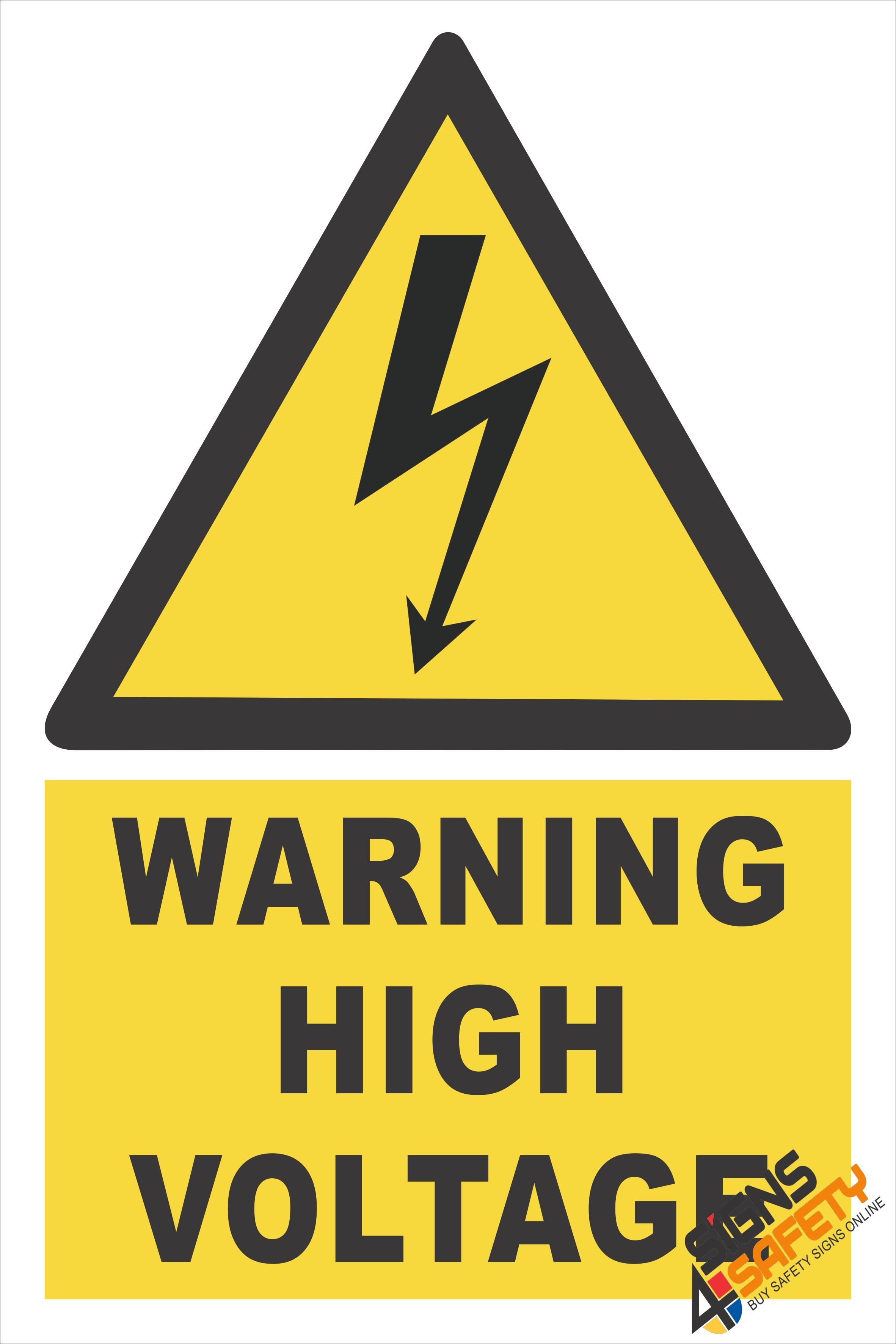 EW3) Warning High Voltage Sign - Signs4Safety
