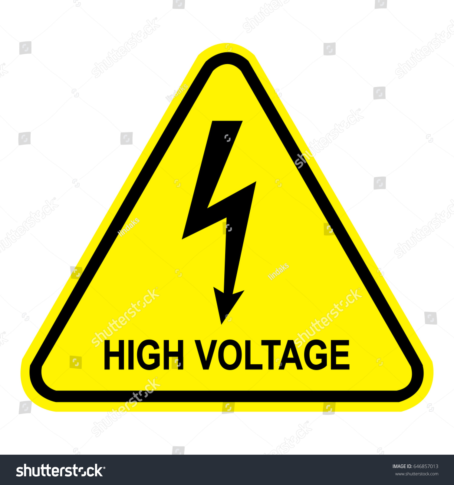 High Voltage Sign Safety Sign Danger Stock Photo (Photo, Vector ...