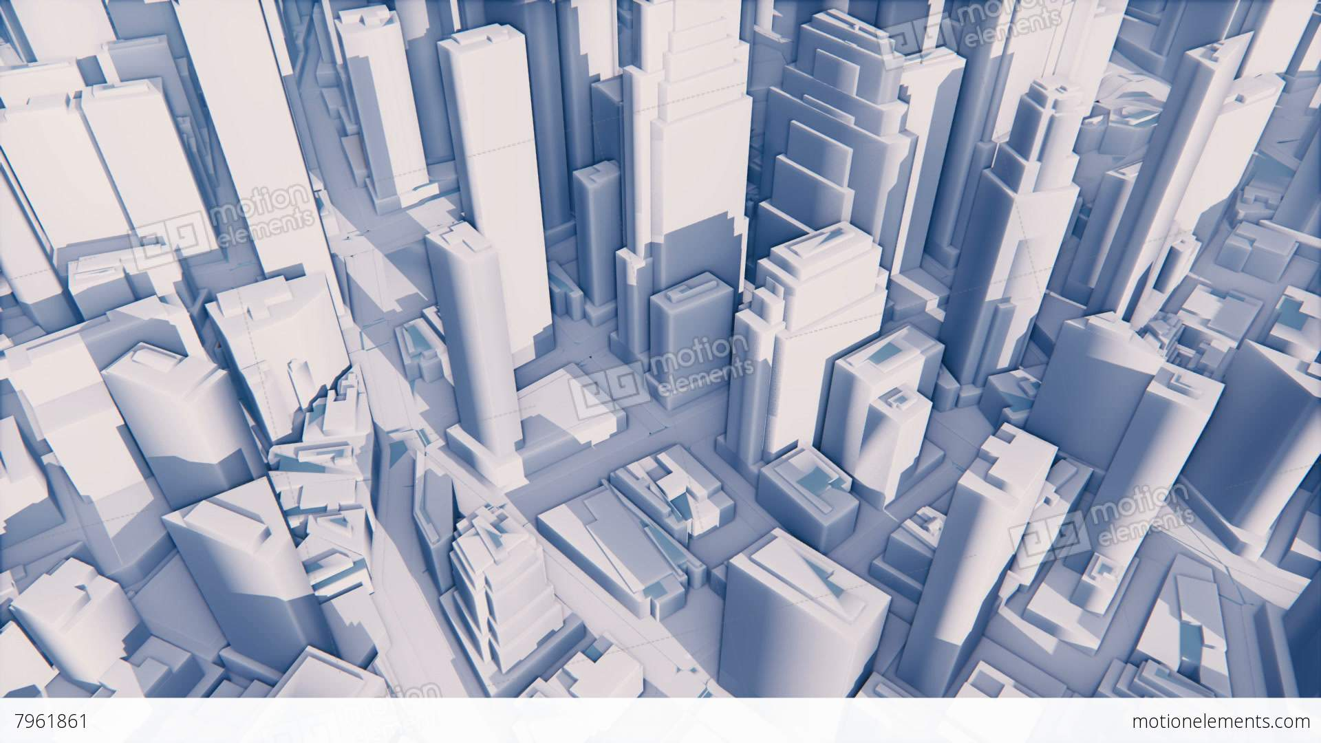 Abstract White 3D Modern City With High Rise Buildings Stock ...