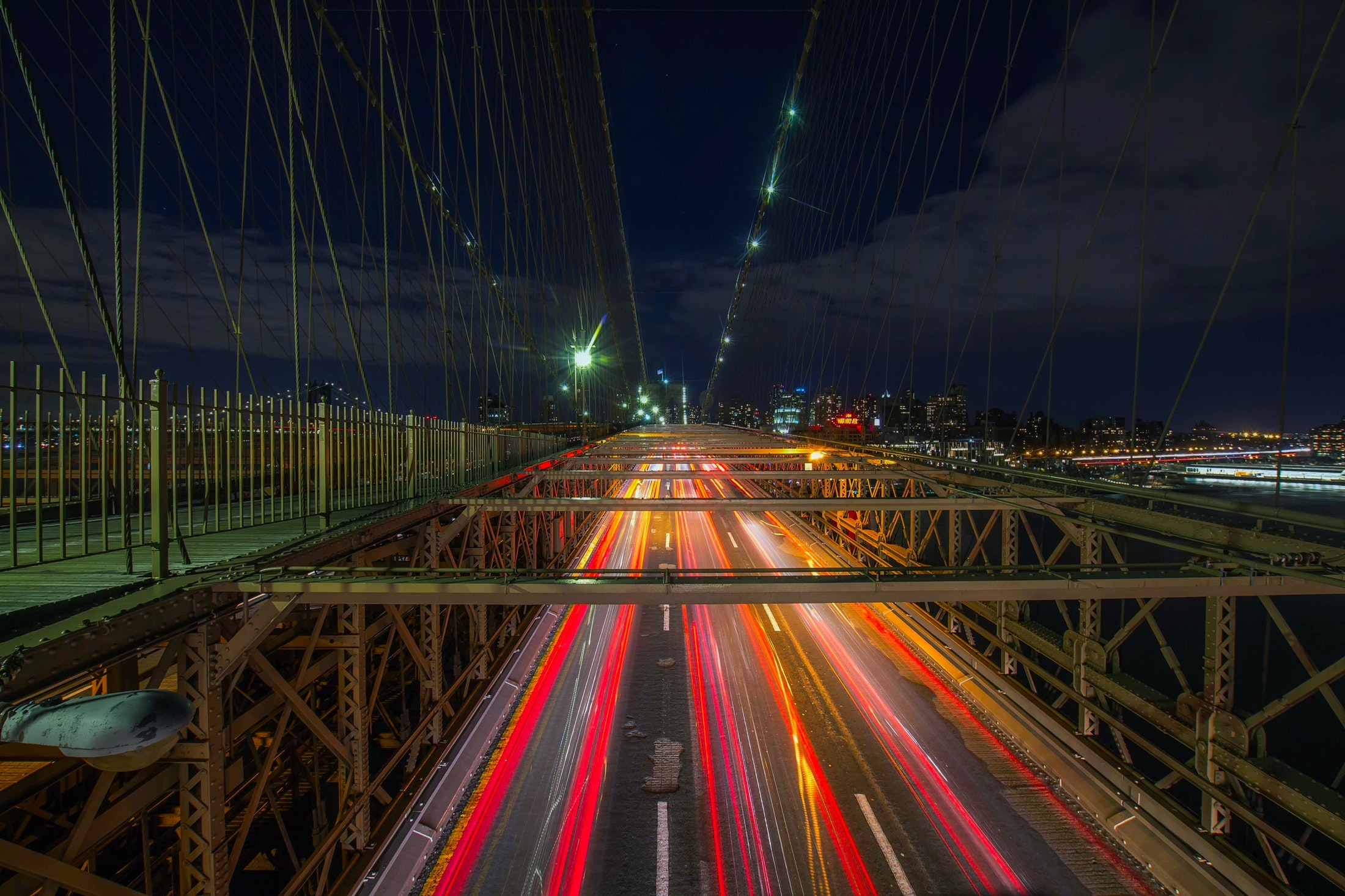 Highway at night photo