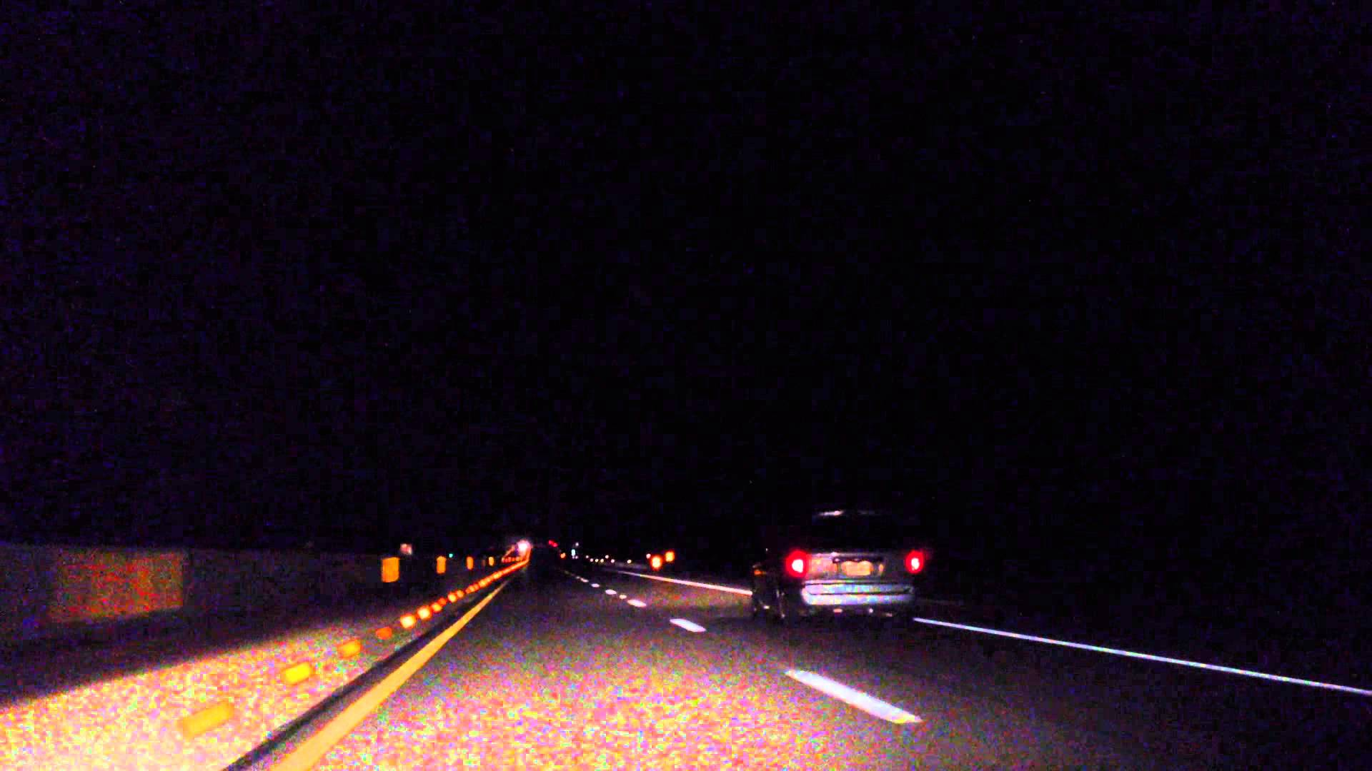 Driving Highway at Night, Perspective - YouTube