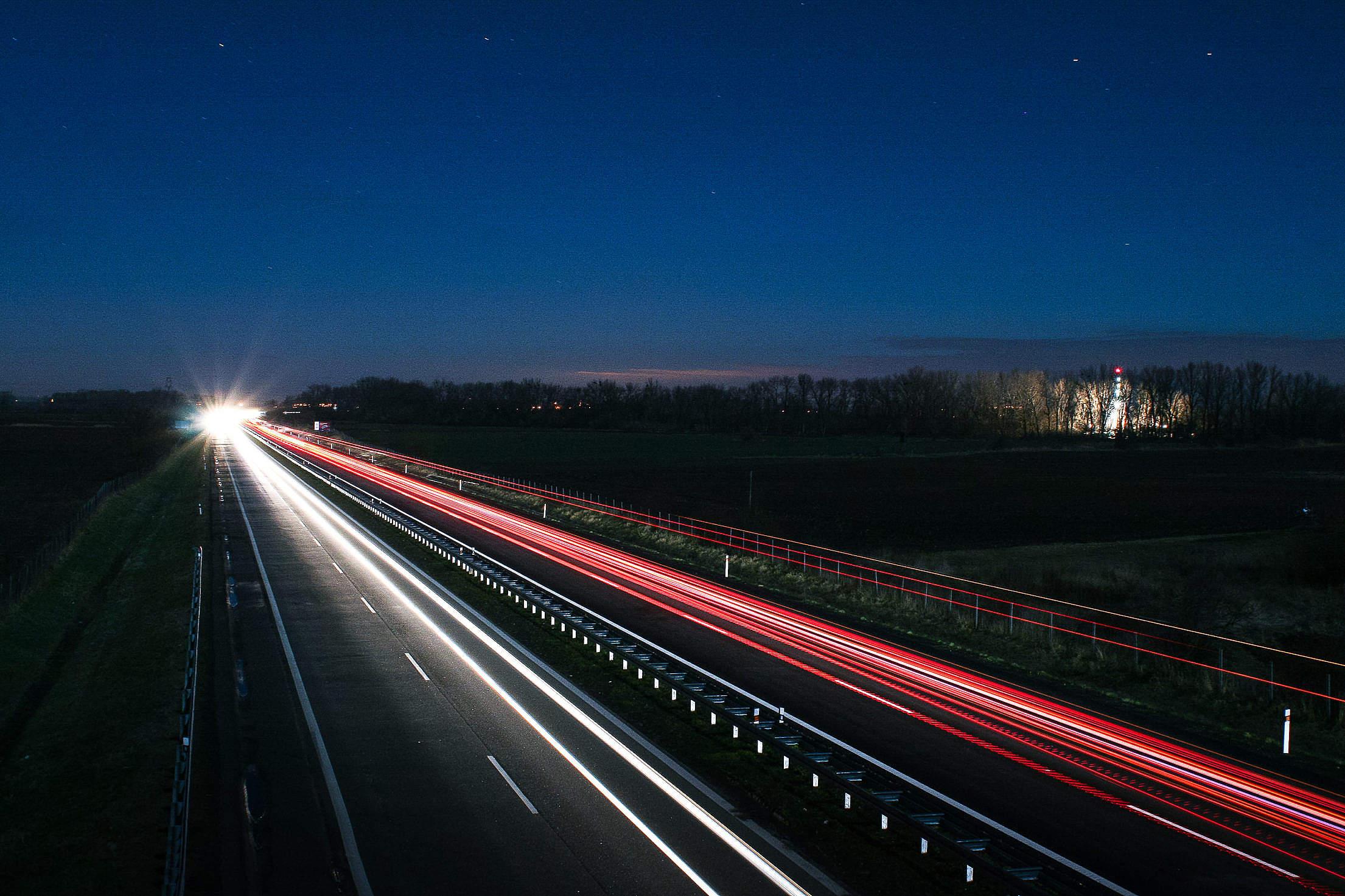 Highway at Night Free Stock Photo Download | picjumbo