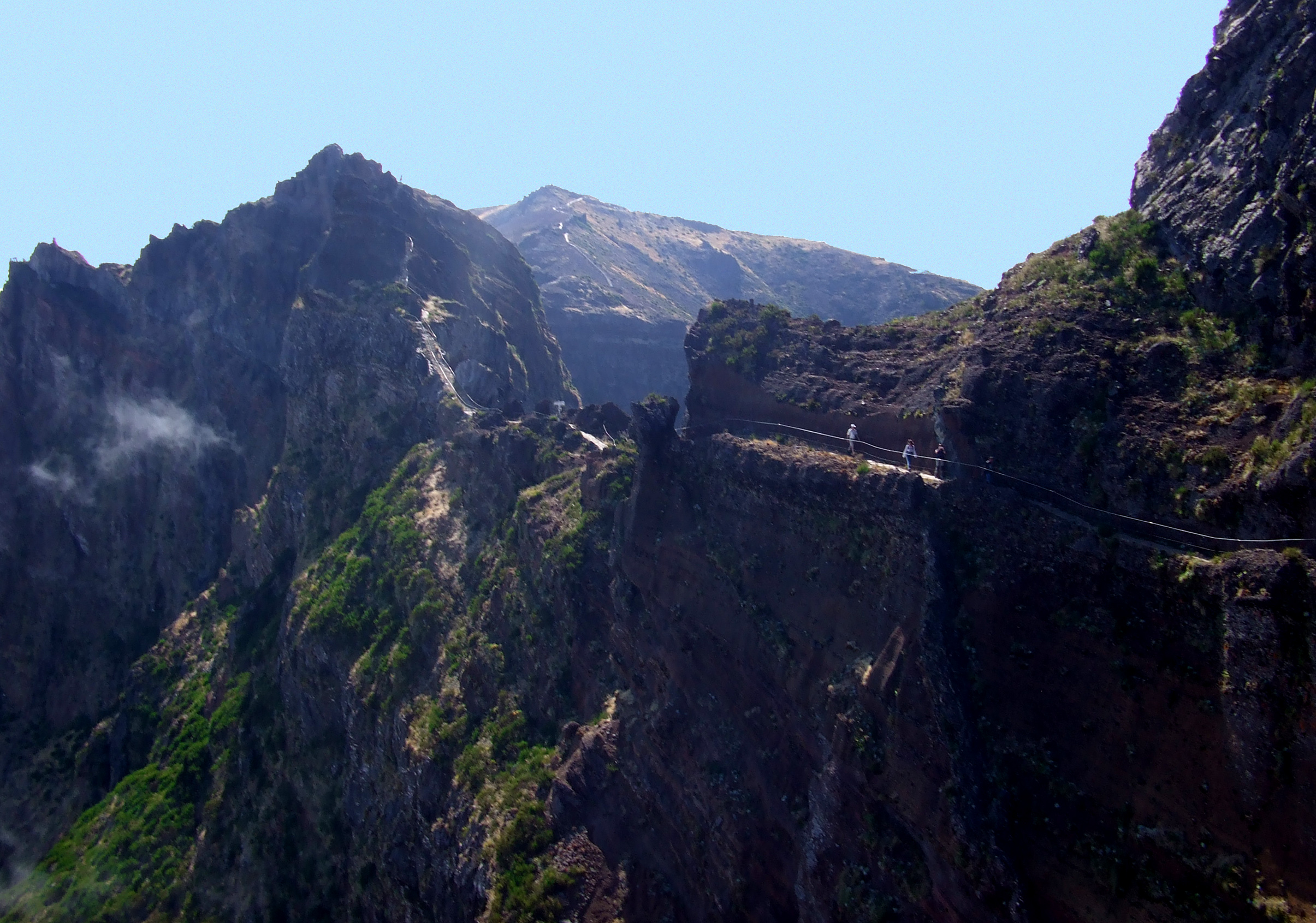 Hikers in the distance, Altitude, Summer, Ridge, Rock, HQ Photo