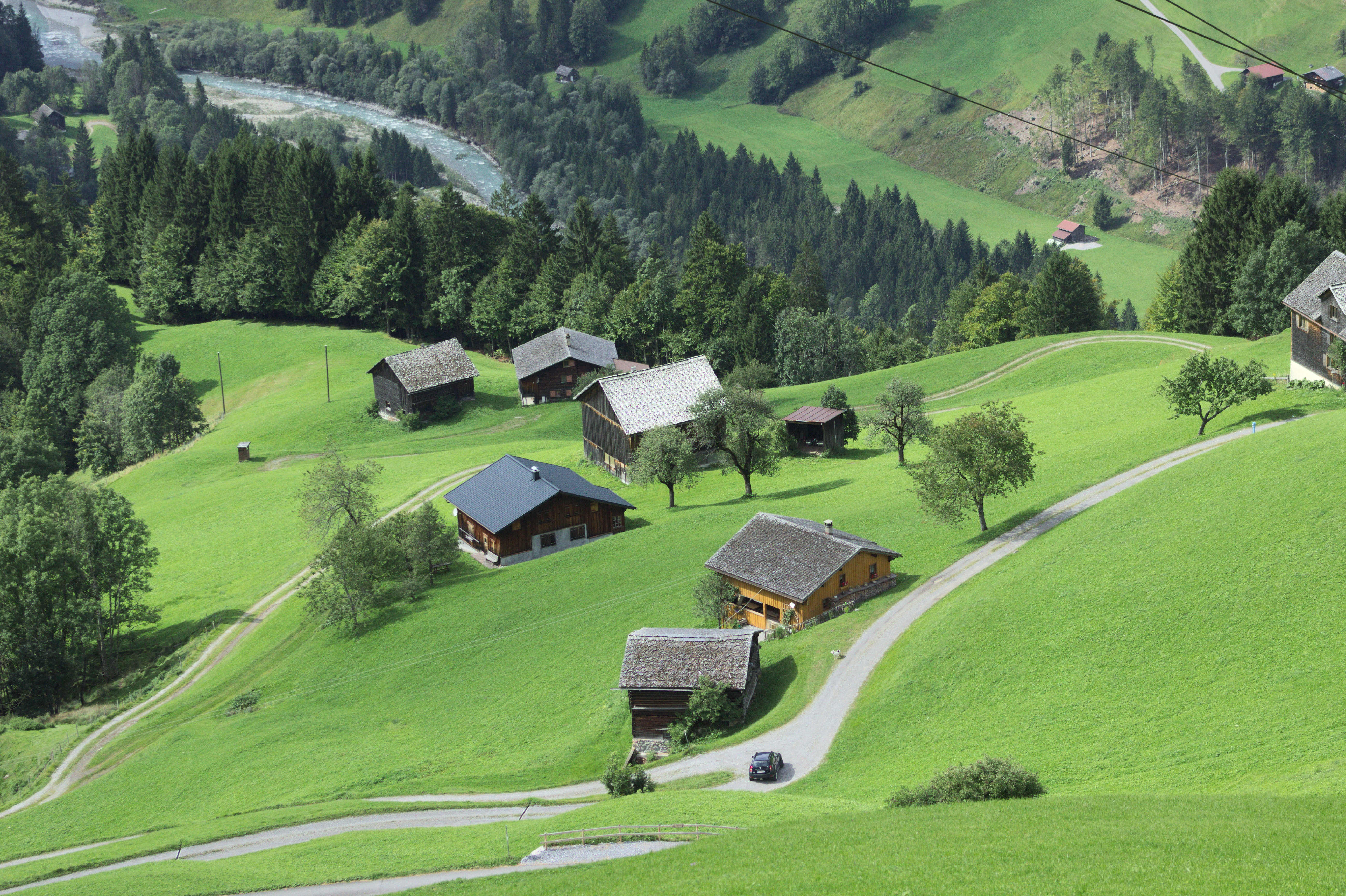 Hillside seen from cable car, sonntag, austria photo