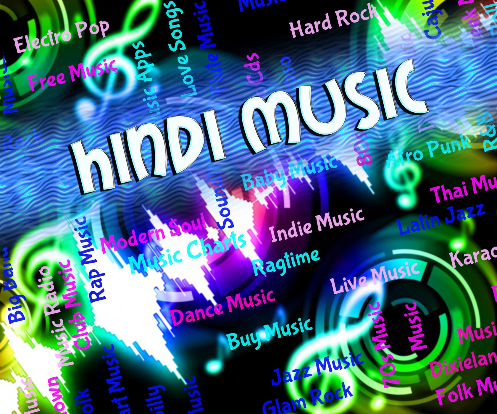 Hindi music represents sound tracks and hindustani photo